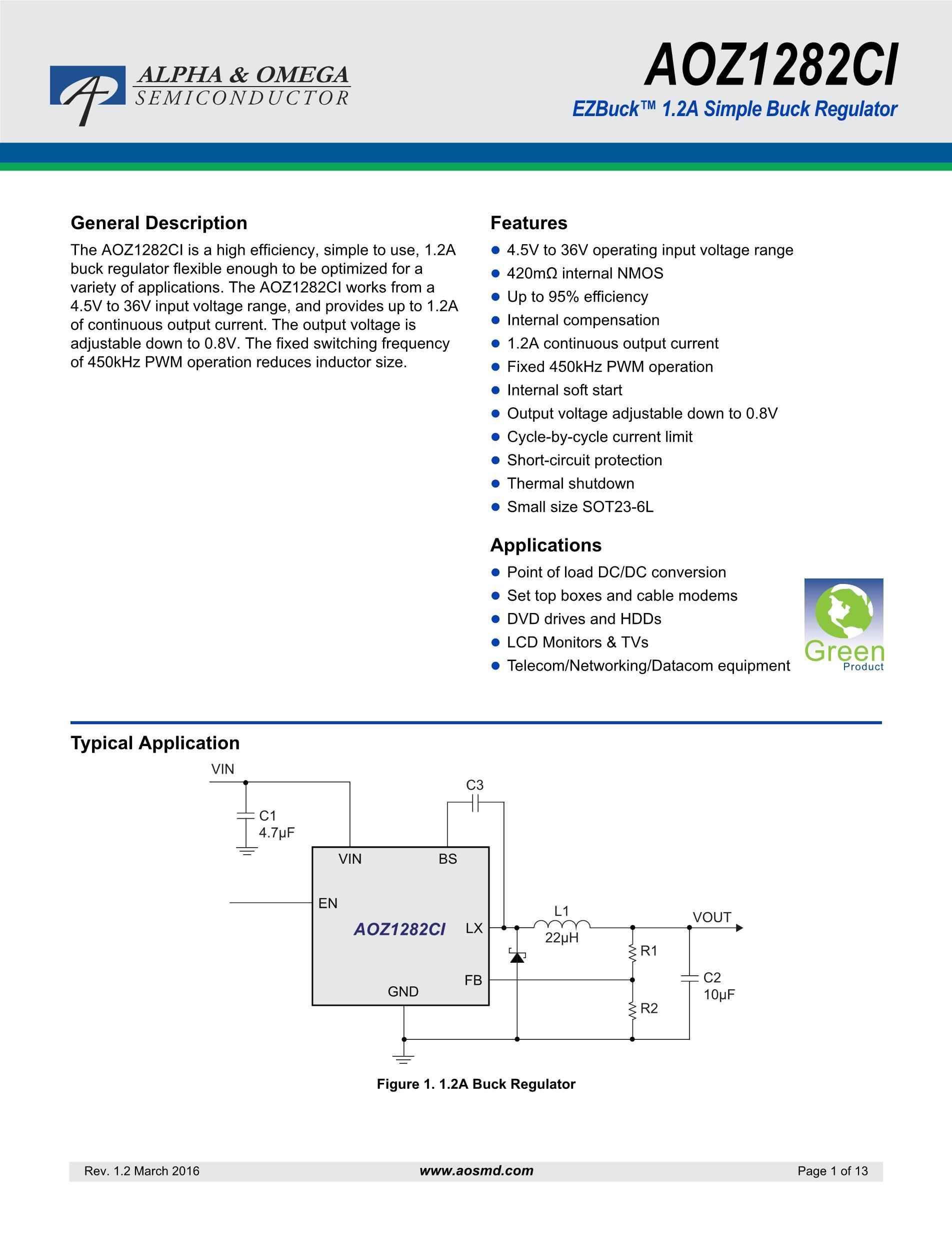 AOZ1267QI-02's pdf picture 1