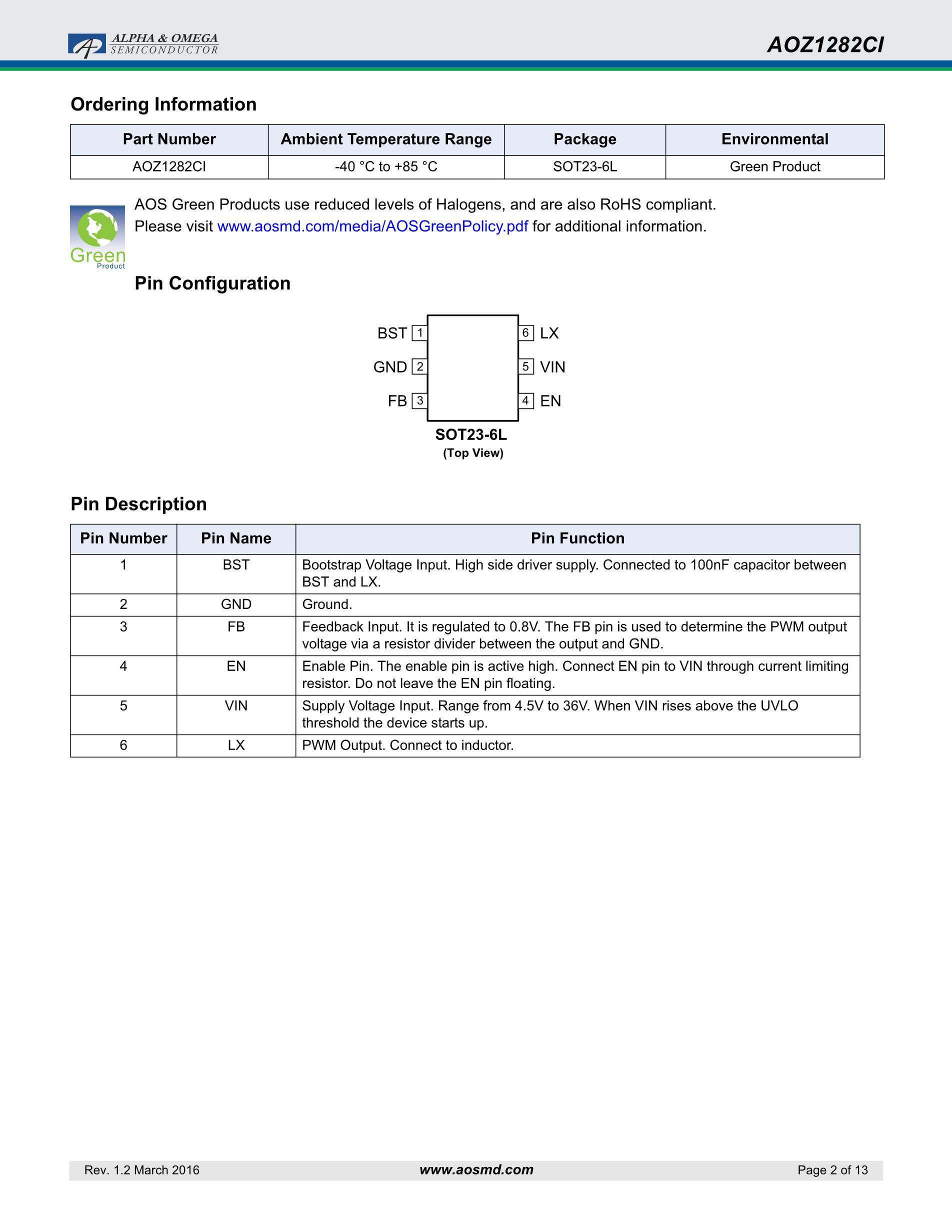 AOZ1267QI-02's pdf picture 2