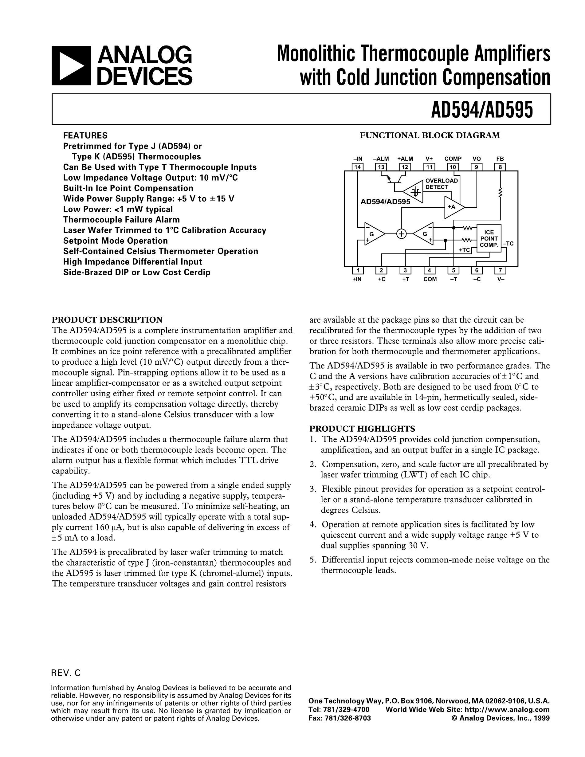 AD594AQ's pdf picture 1