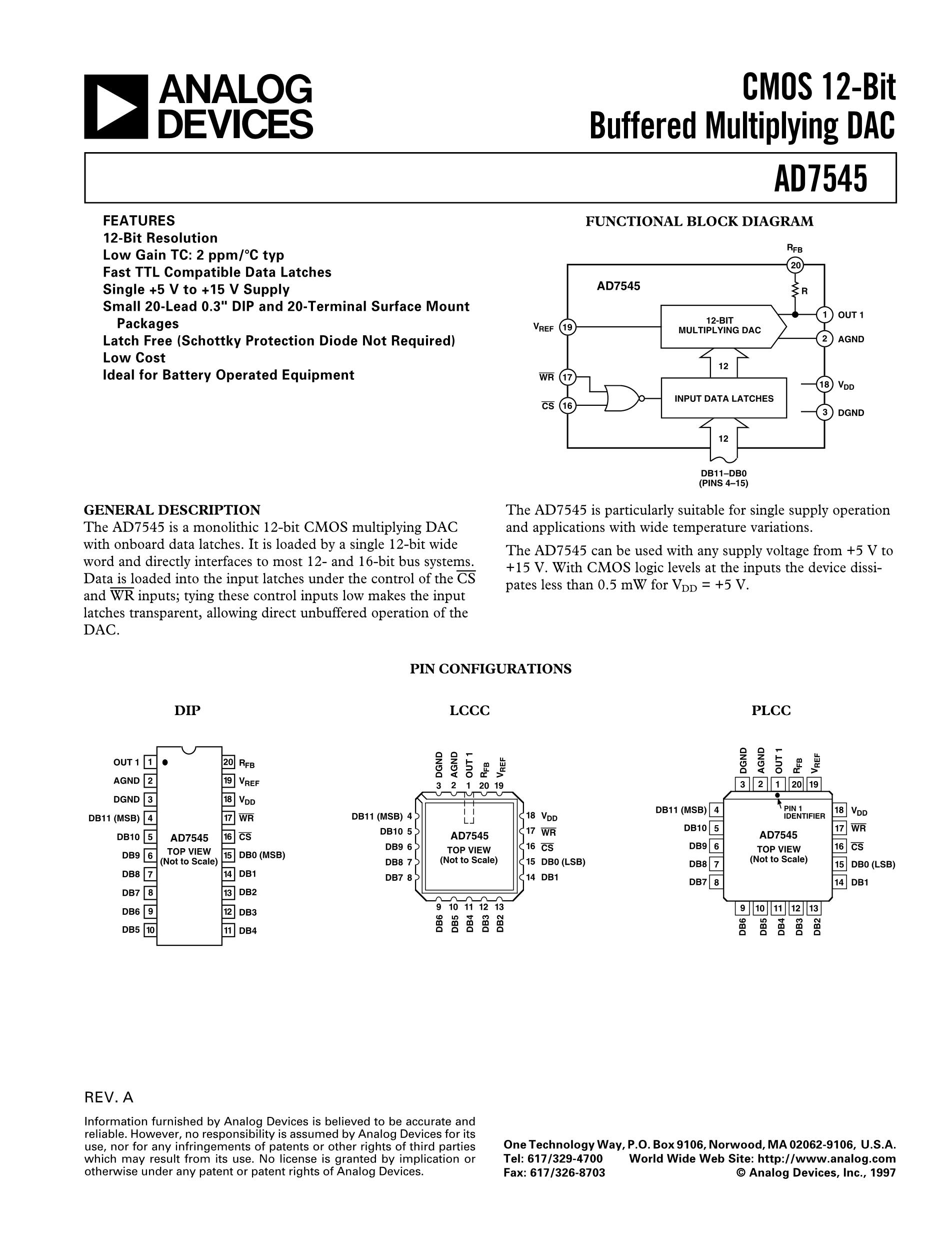 AD7545's pdf picture 1