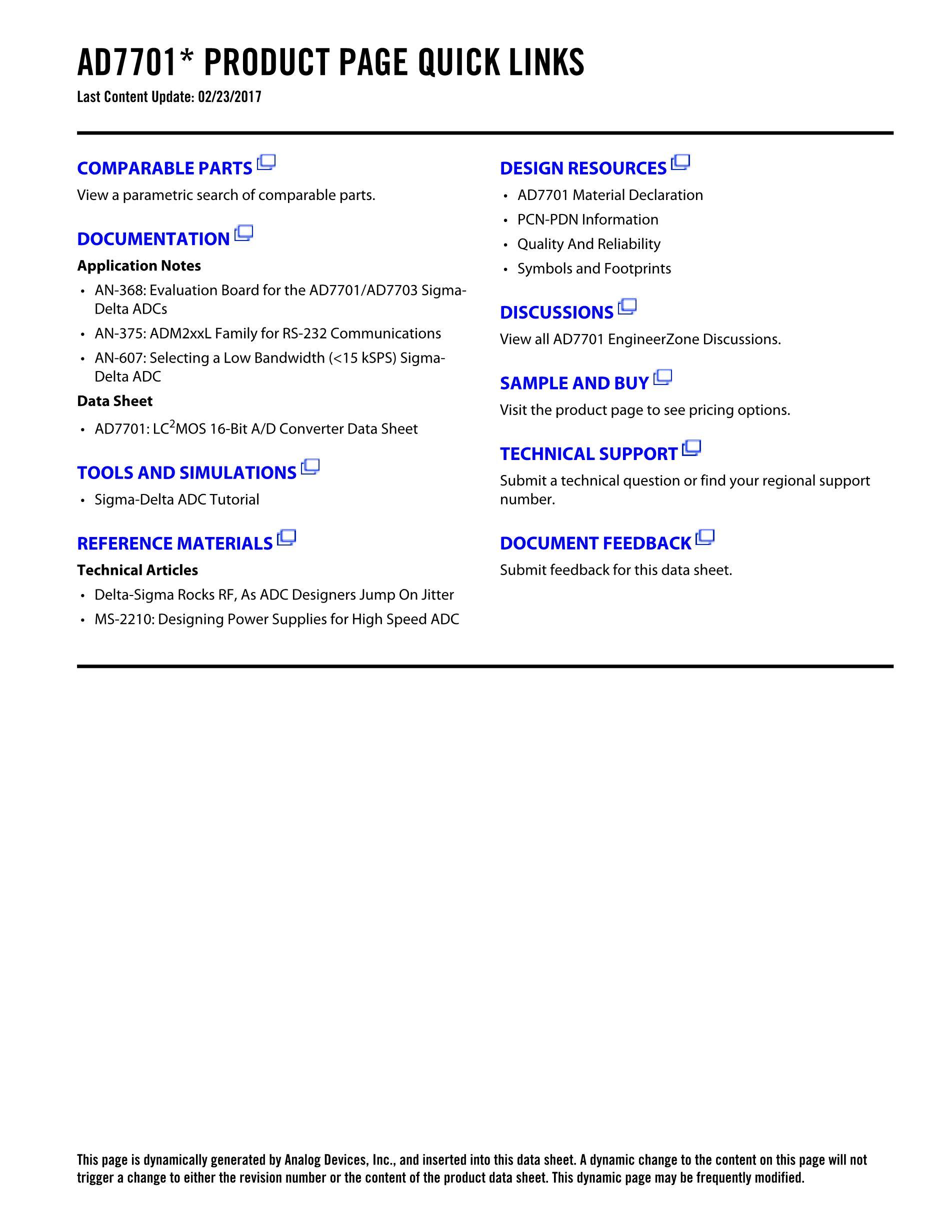 AD7701's pdf picture 2