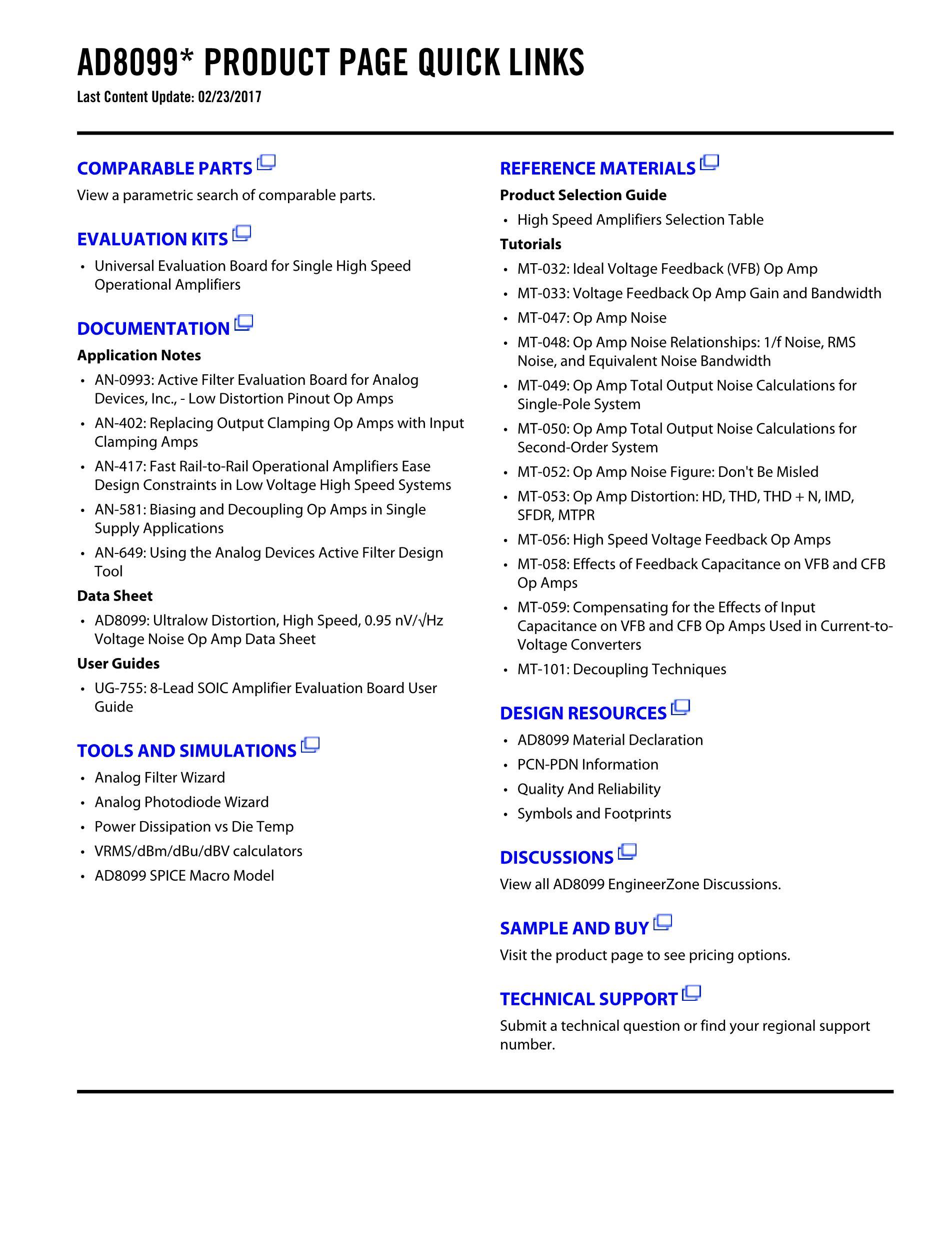 AD8099ARD's pdf picture 2