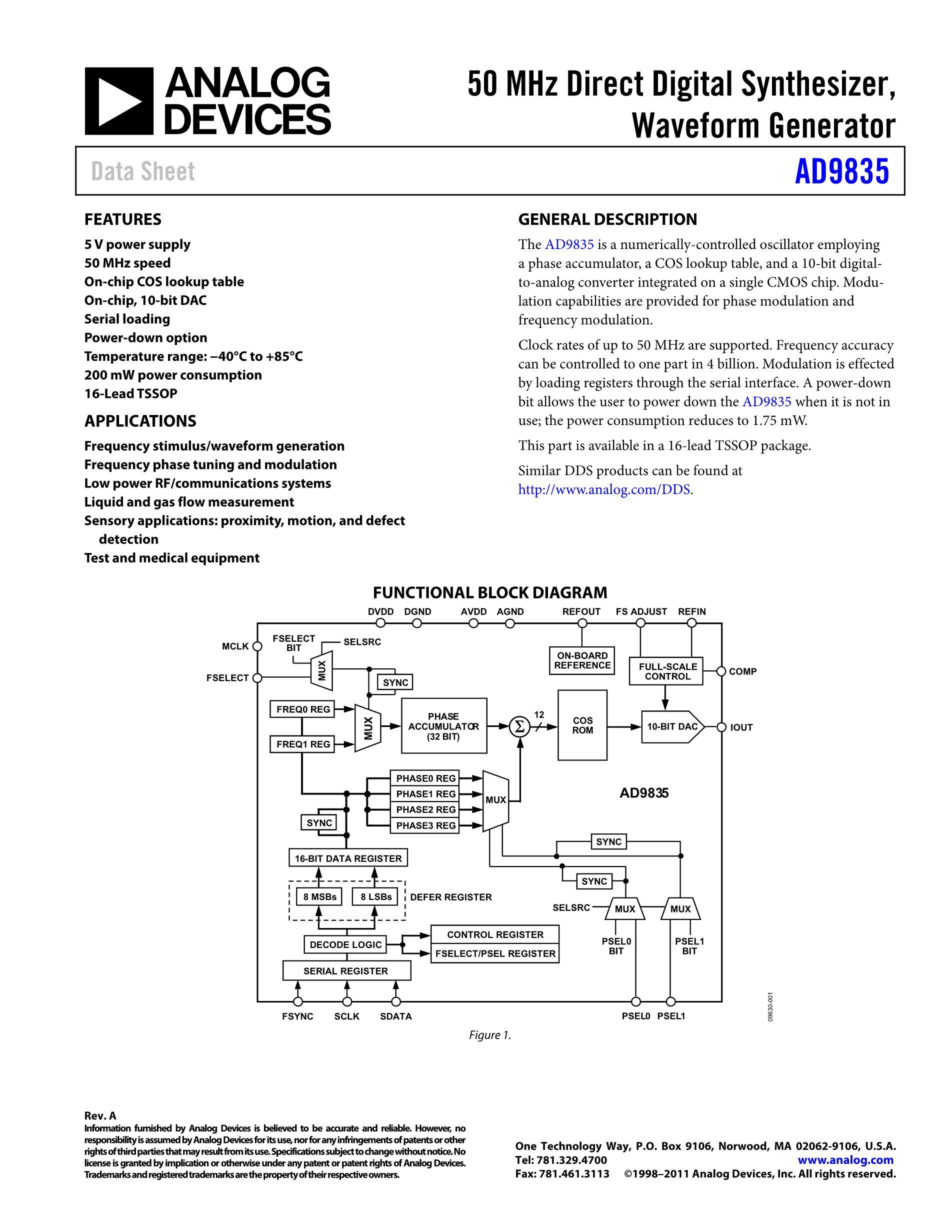 AD9835BRUZ's pdf picture 1