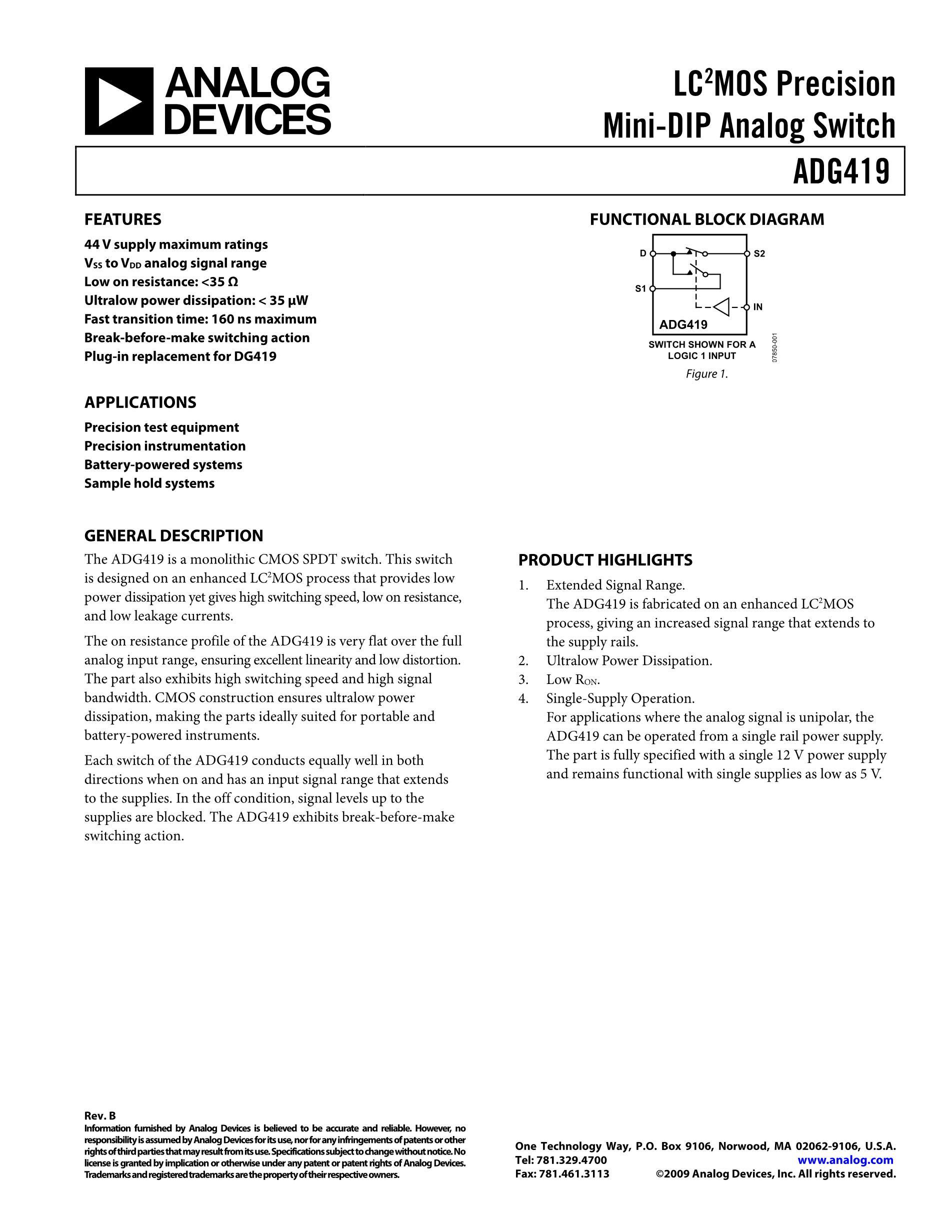 ADG419BR-REEL's pdf picture 1