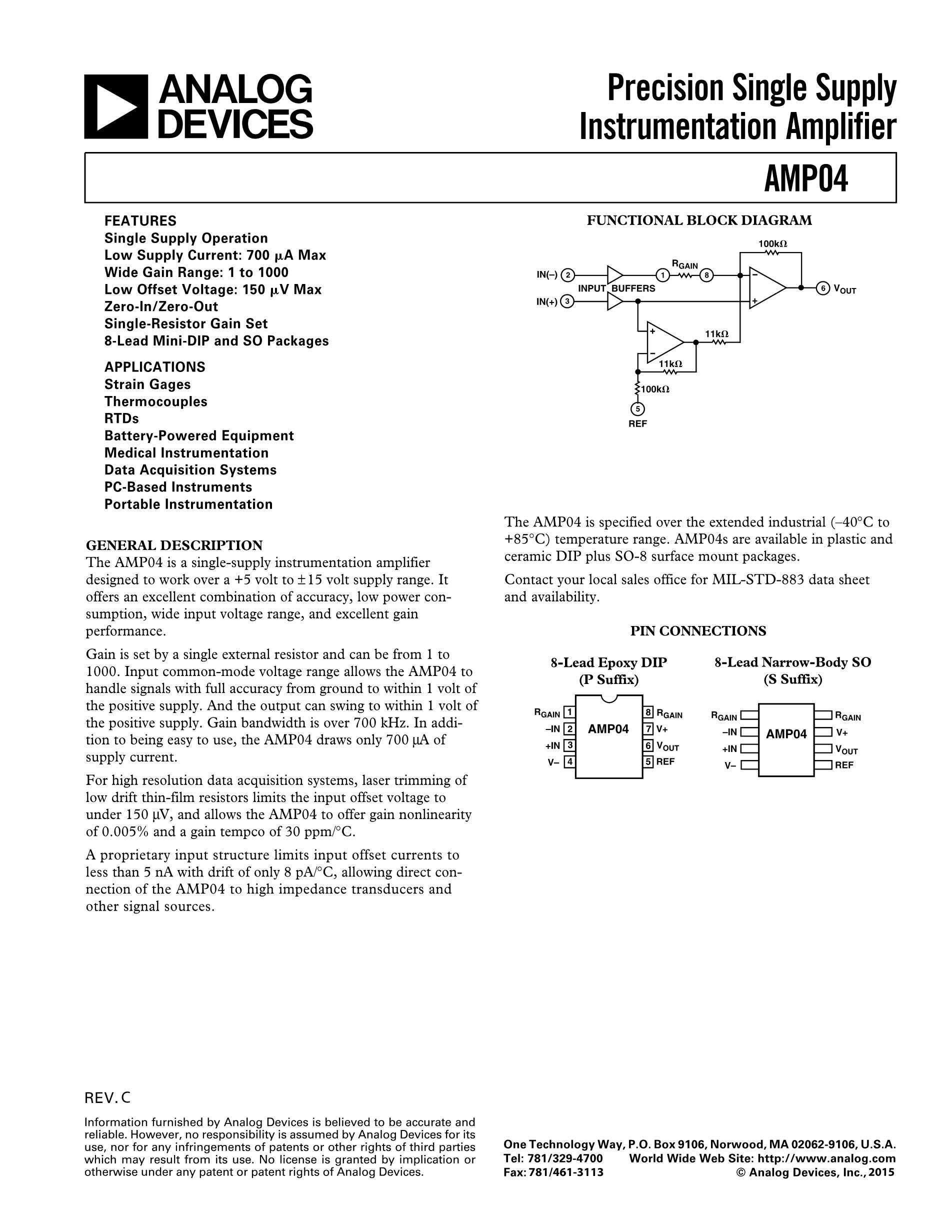 AMP01GSZ-REEL's pdf picture 1