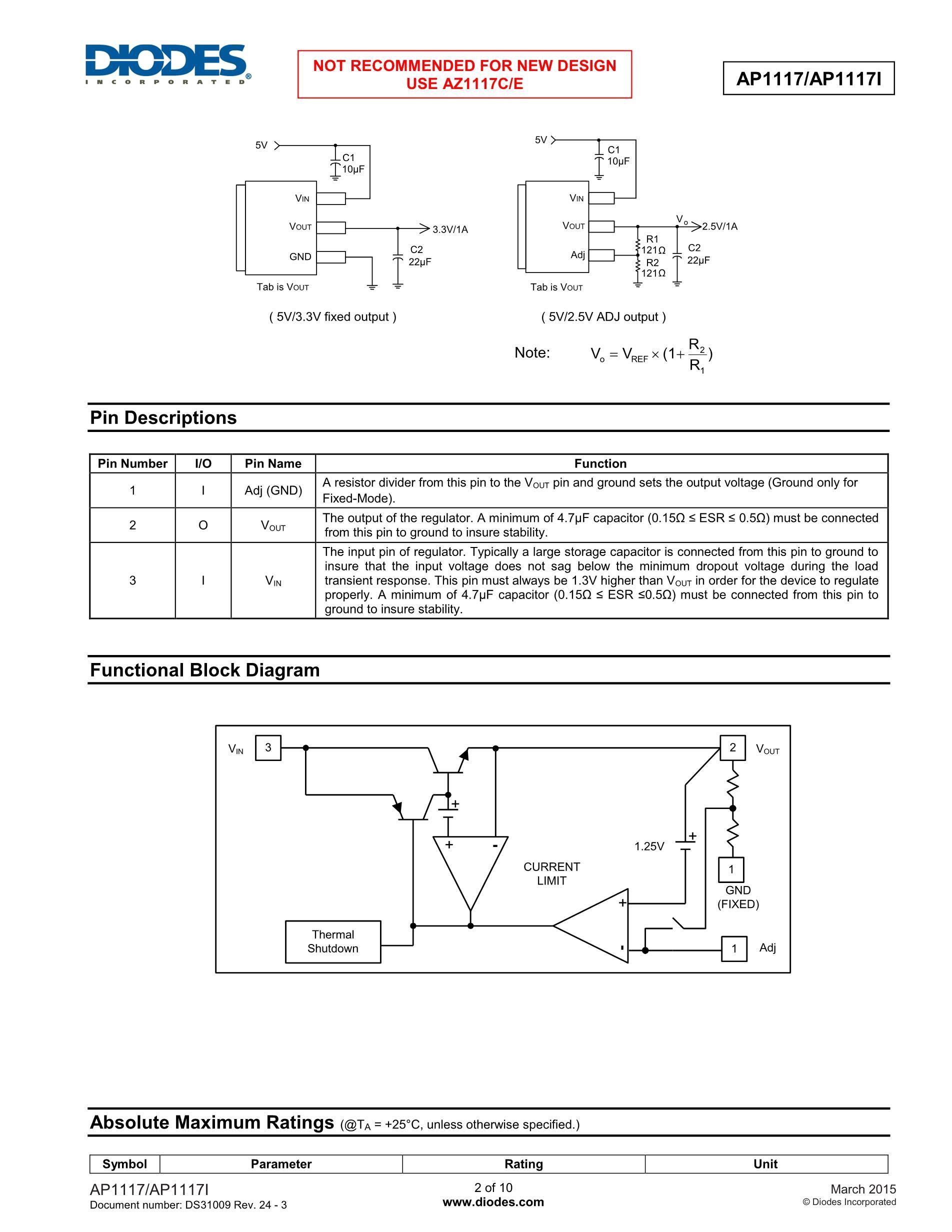 AP1117E50LA's pdf picture 2