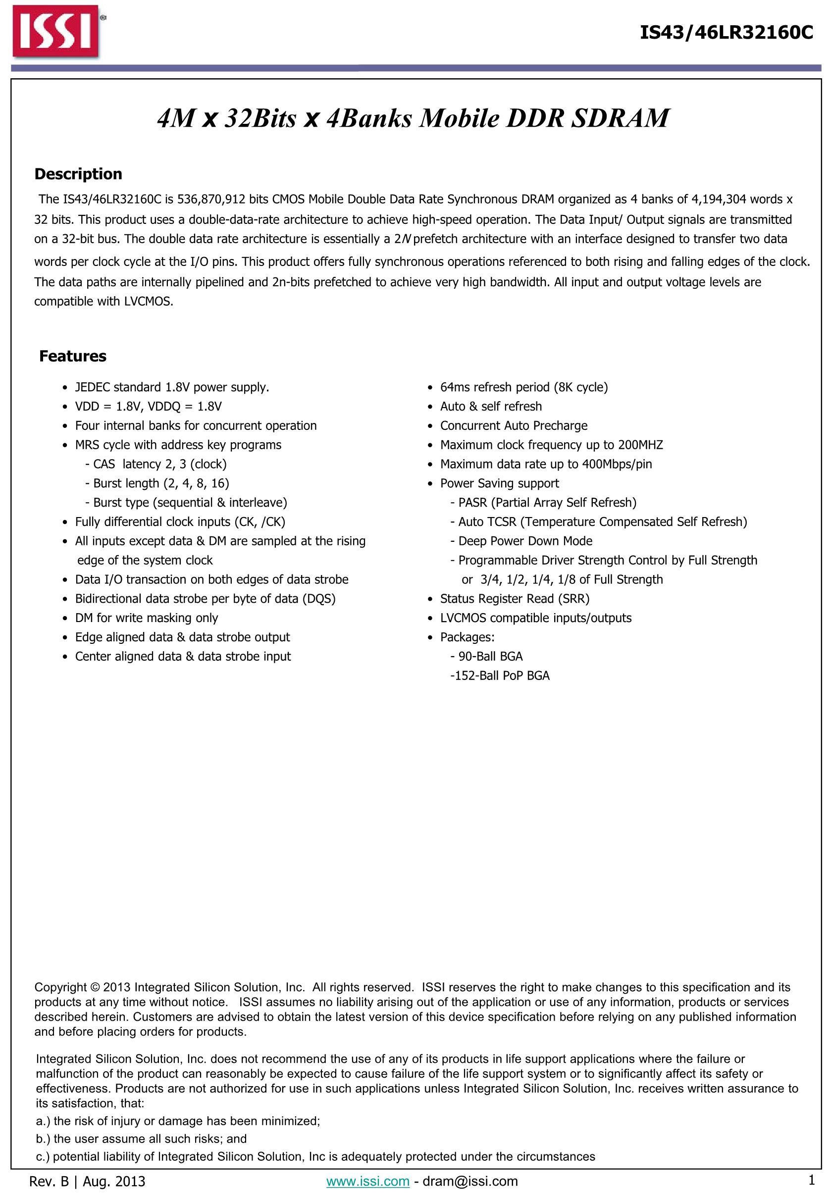 IS43DR86400-3DBLI's pdf picture 1