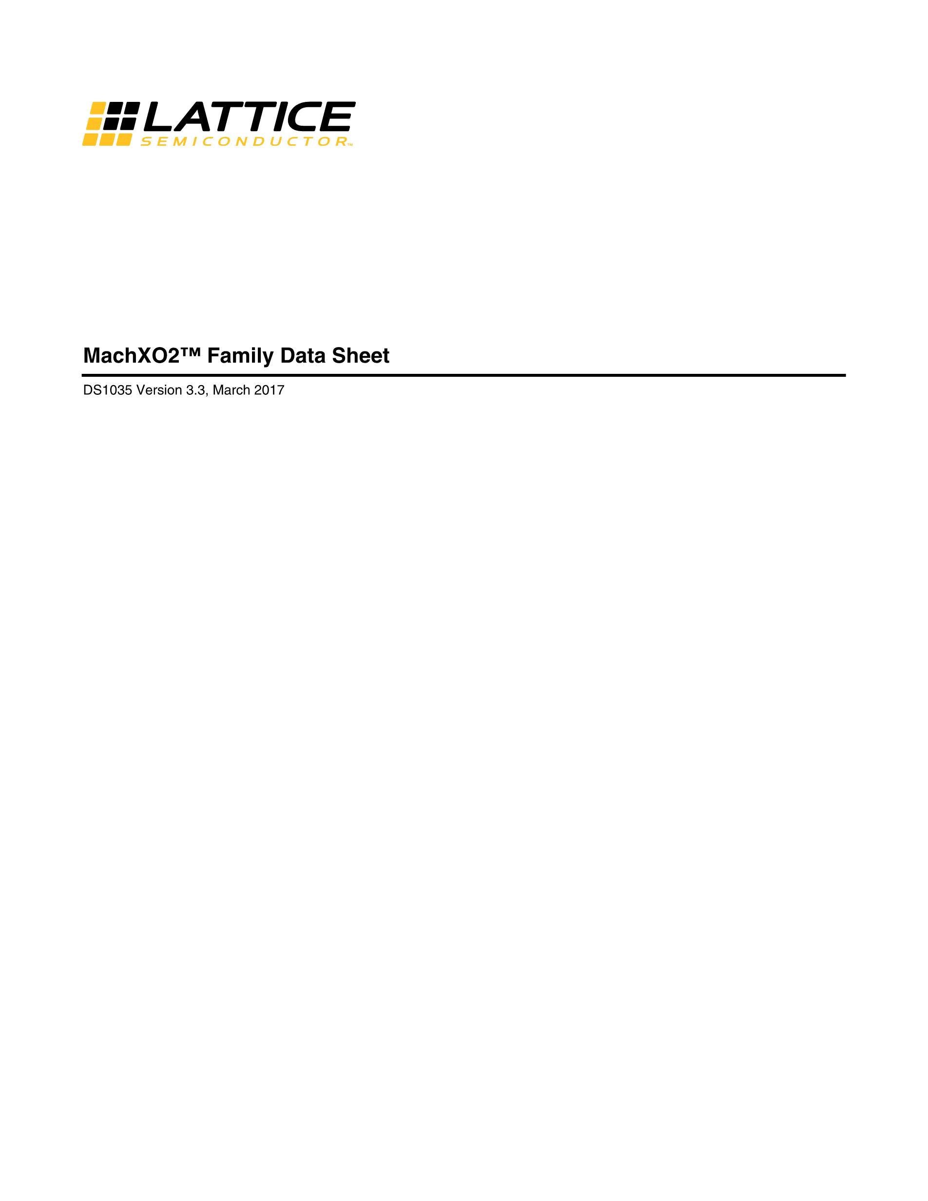 LCMXO640C-3FN256I's pdf picture 1