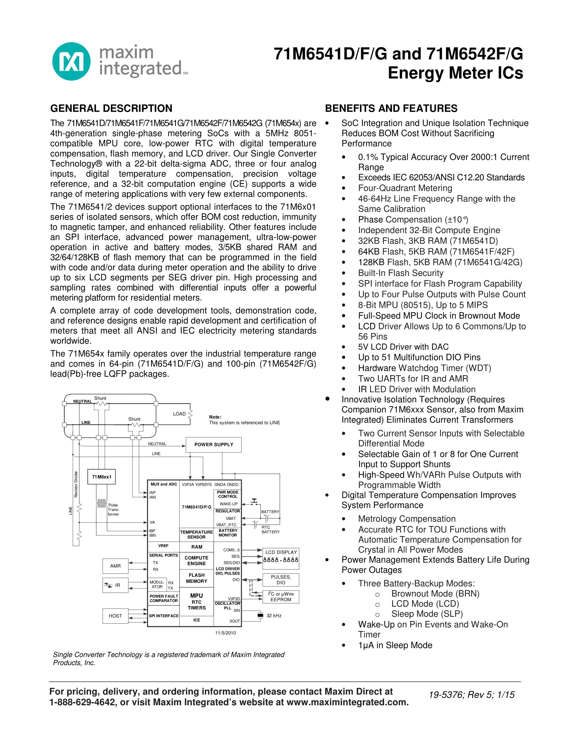 71M6543G-IGTR/F's pdf picture 1
