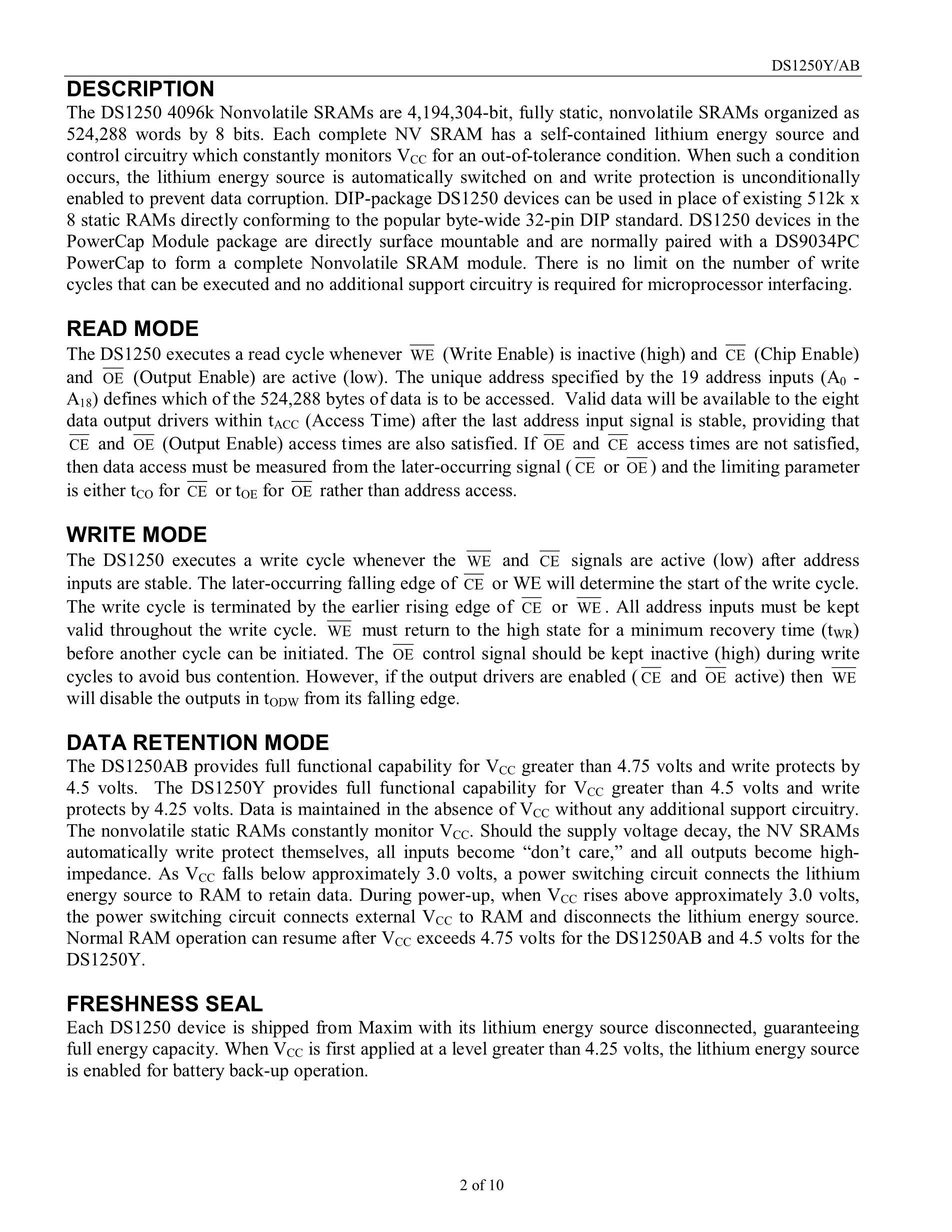 DS1250's pdf picture 2