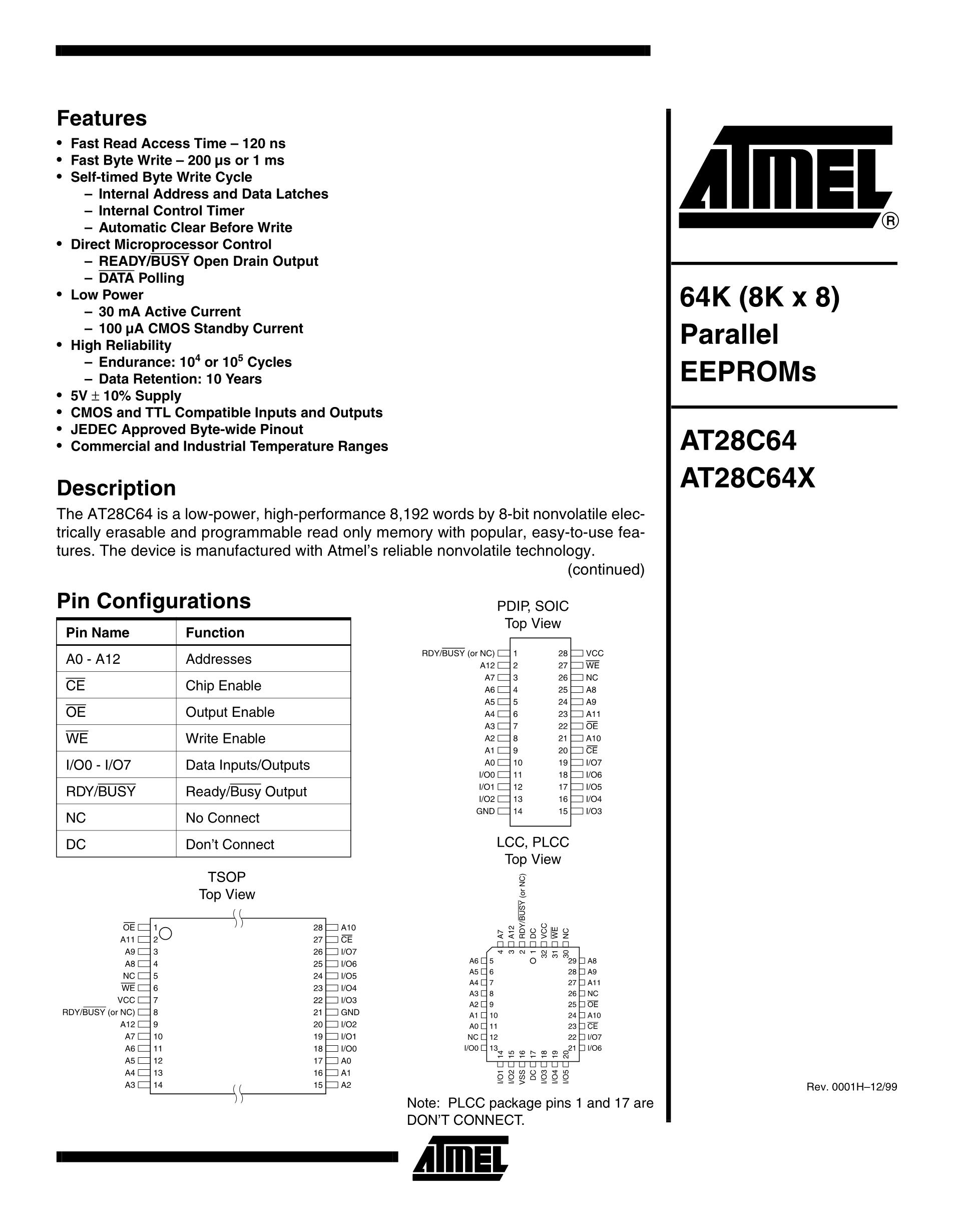 AT28C64's pdf picture 1