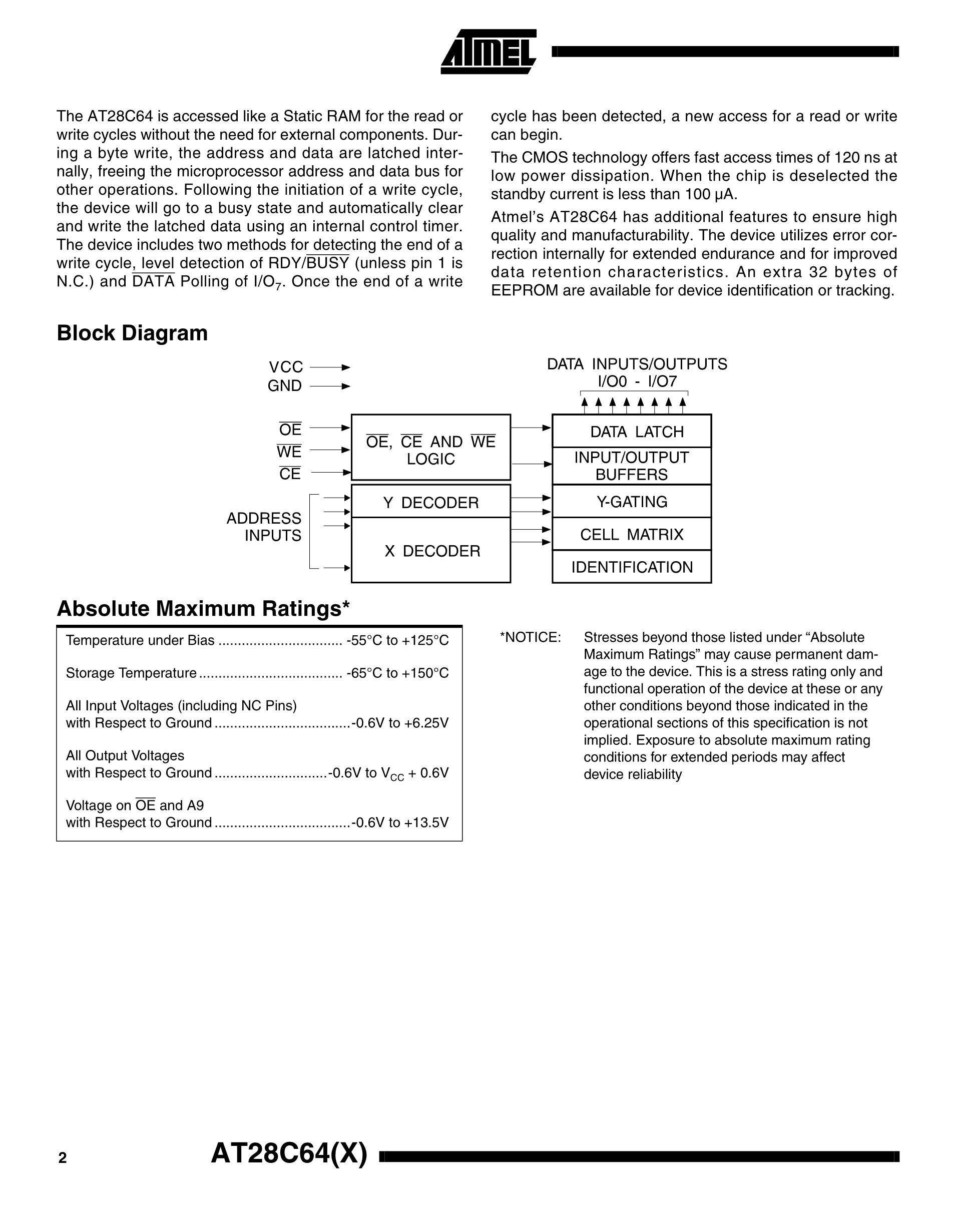 AT28C64's pdf picture 2
