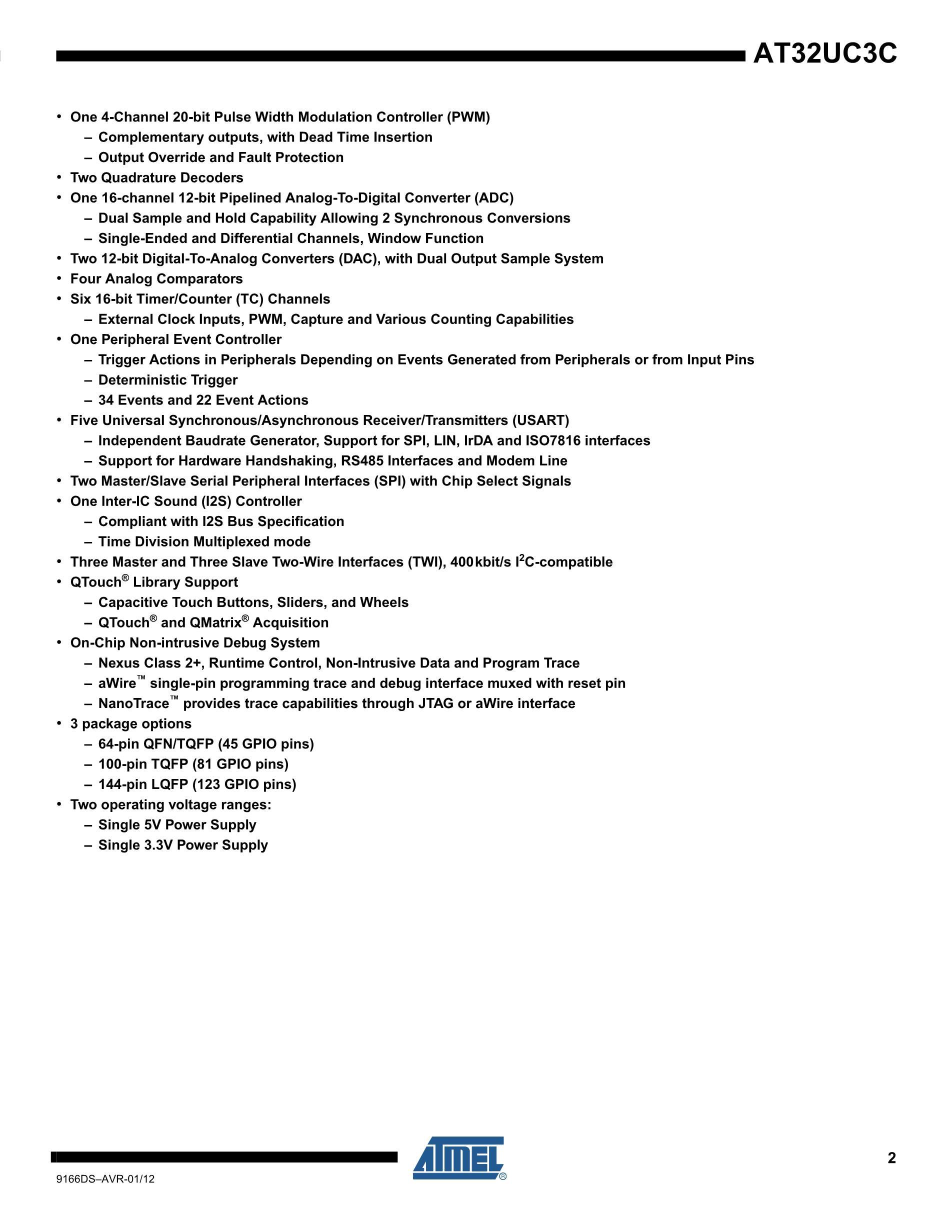 AT32UC3B0128-U's pdf picture 2