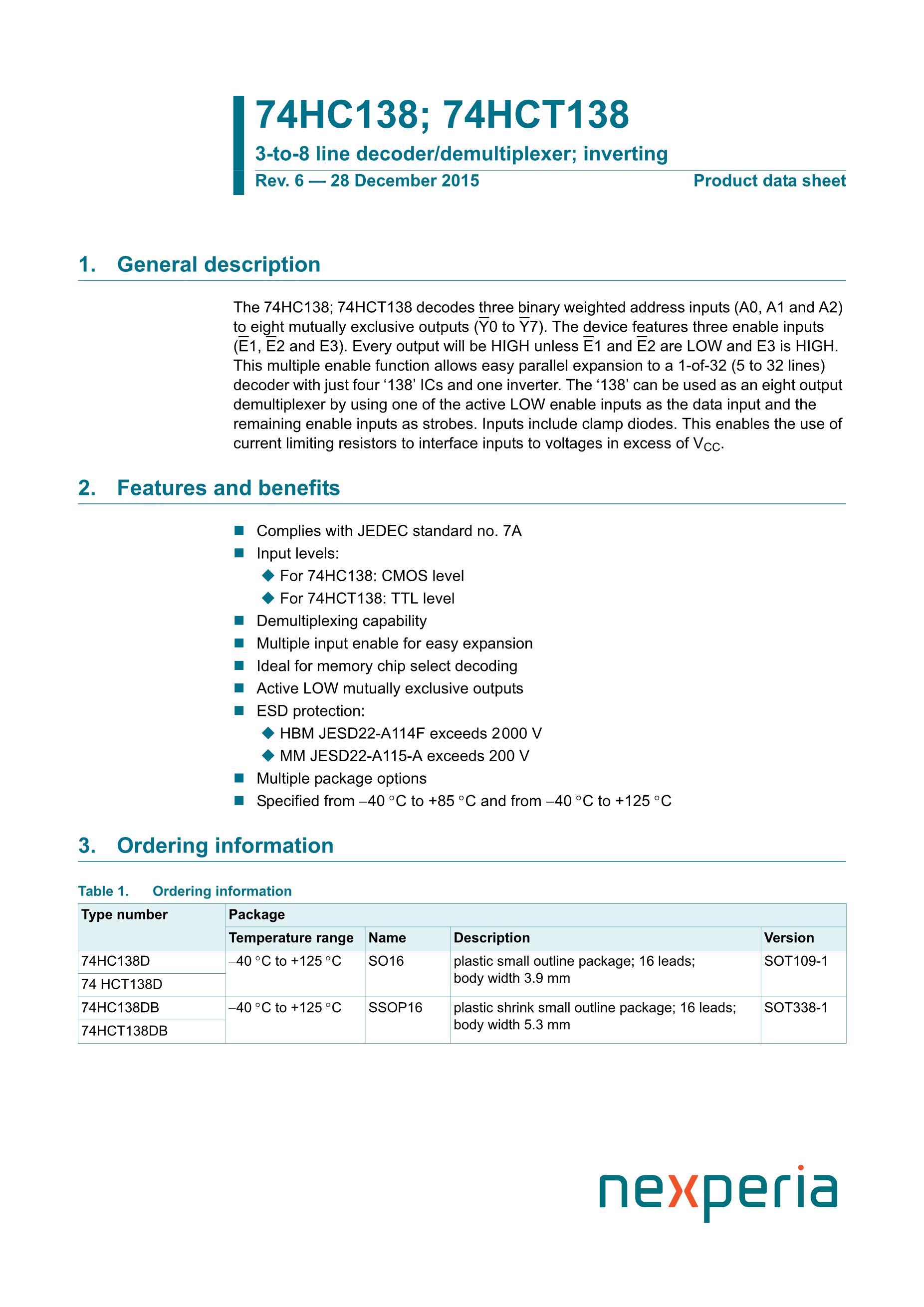 74HC138D's pdf picture 1