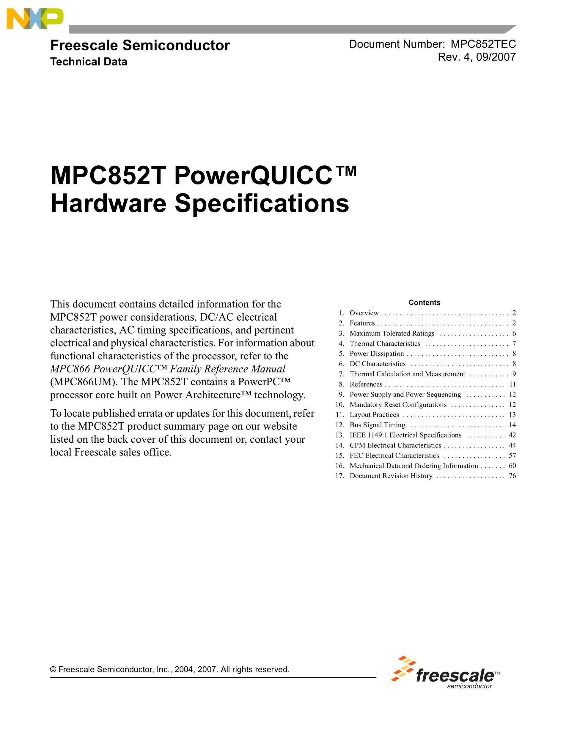 MPC880ZP133's pdf picture 1