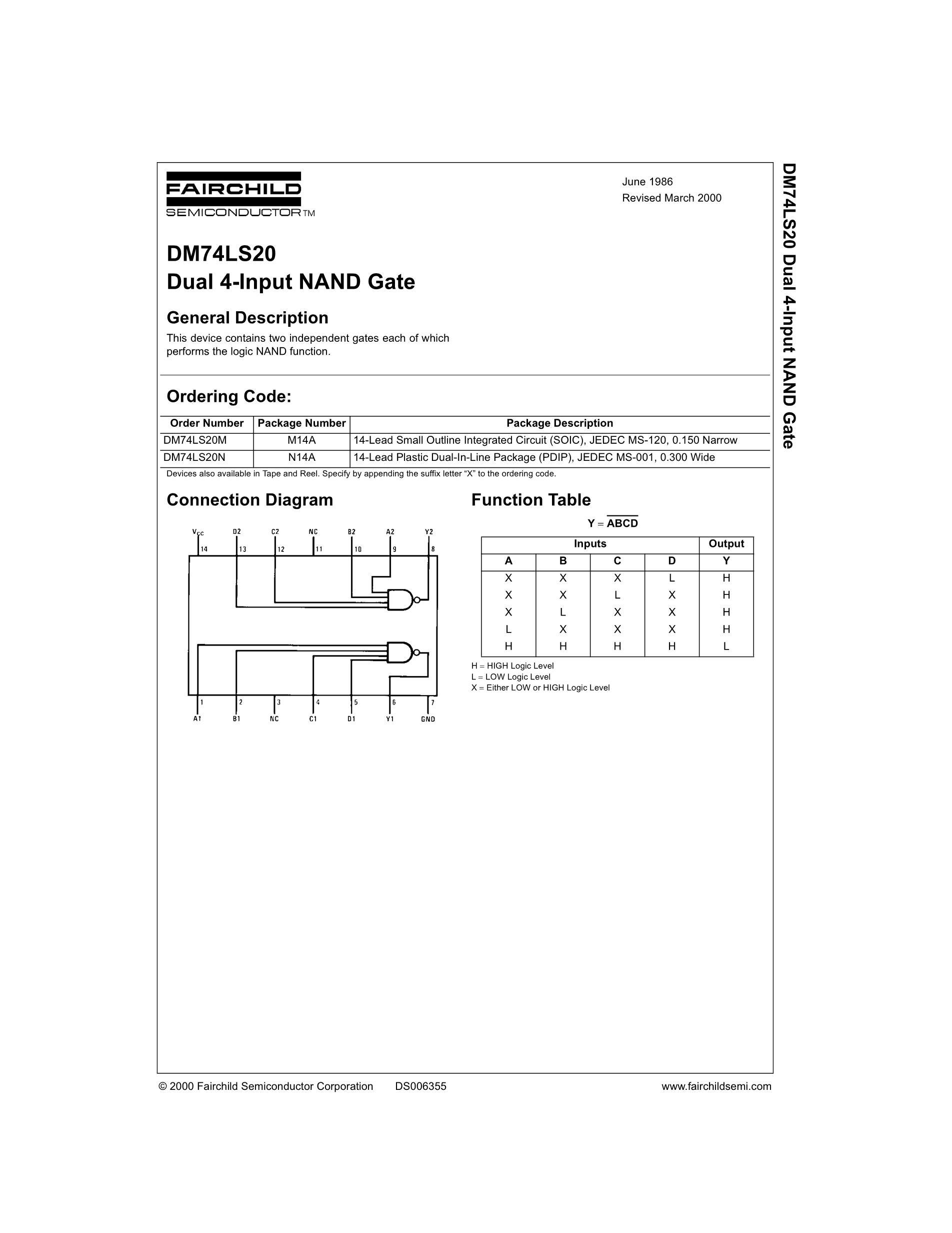 DM74LS20N's pdf picture 1