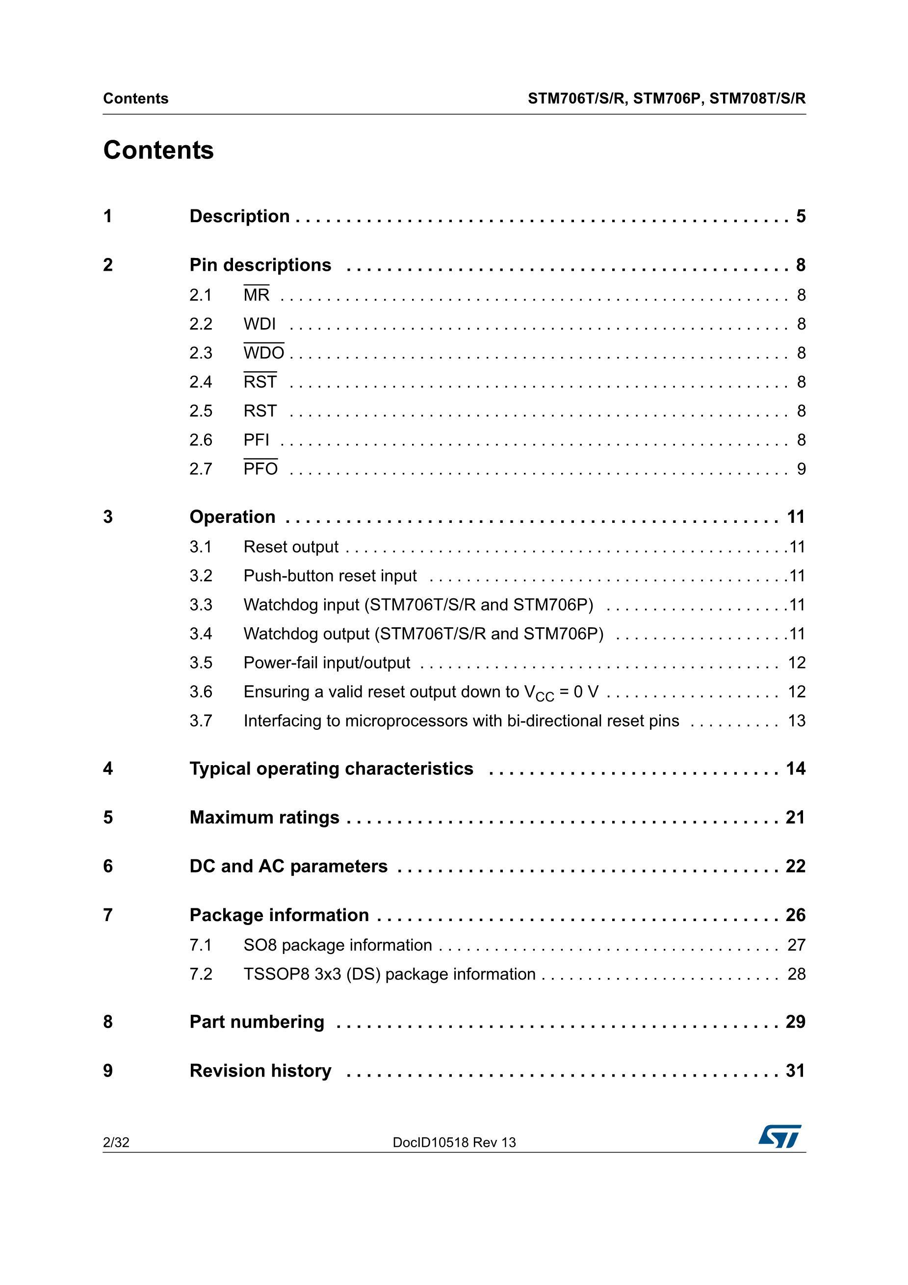 STM706RAM6F's pdf picture 2