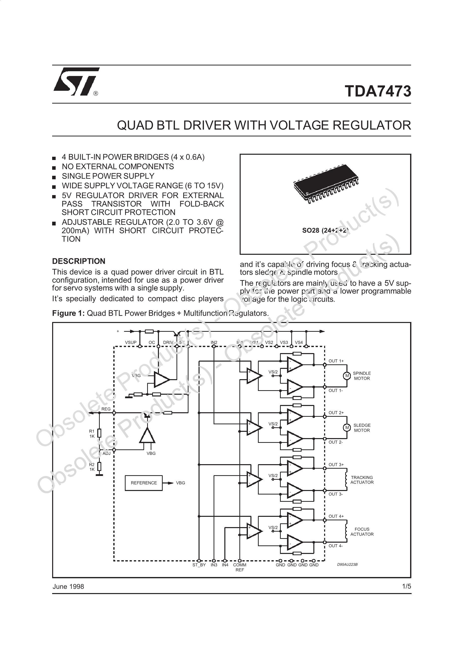 TDA7473A's pdf picture 1