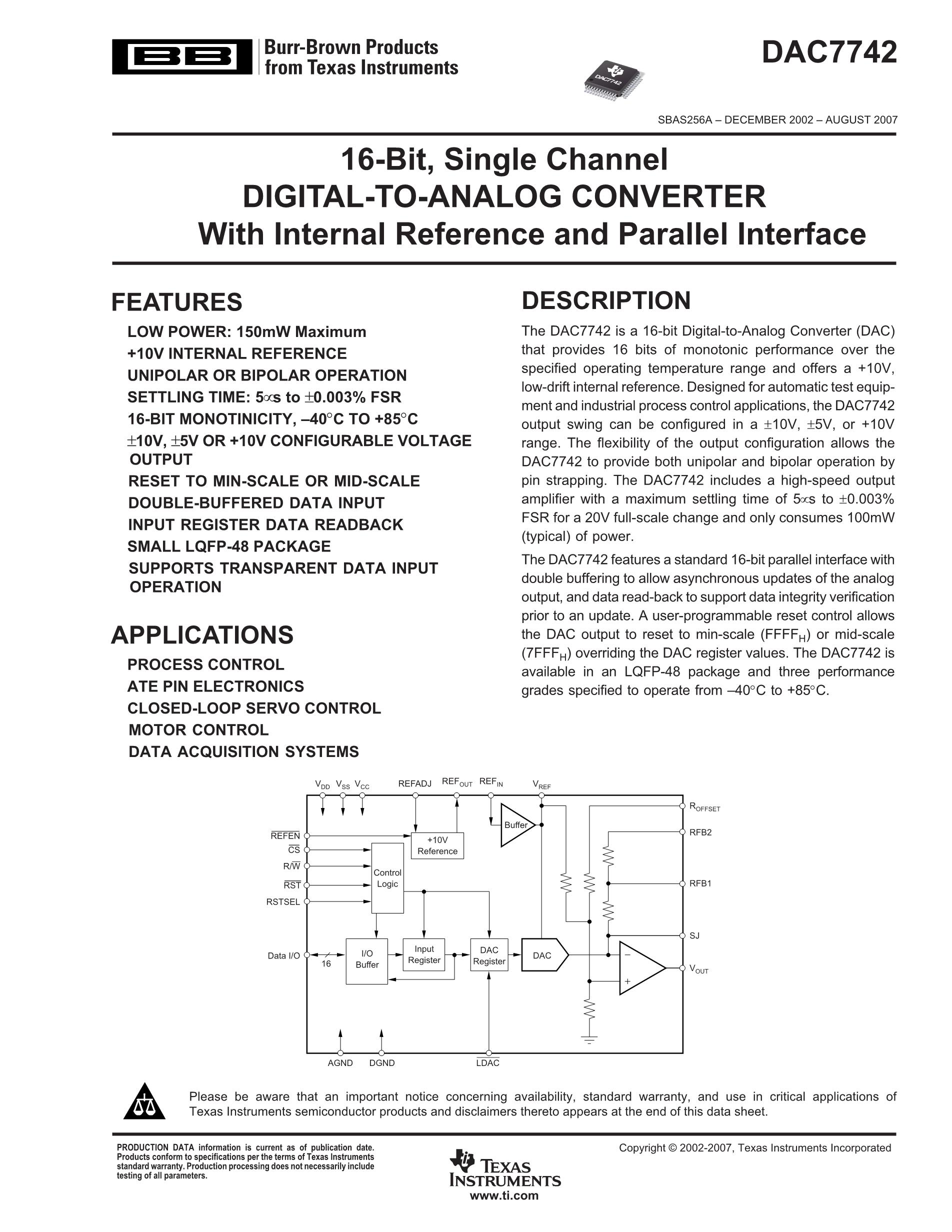 DAC7562TDSCT's pdf picture 1