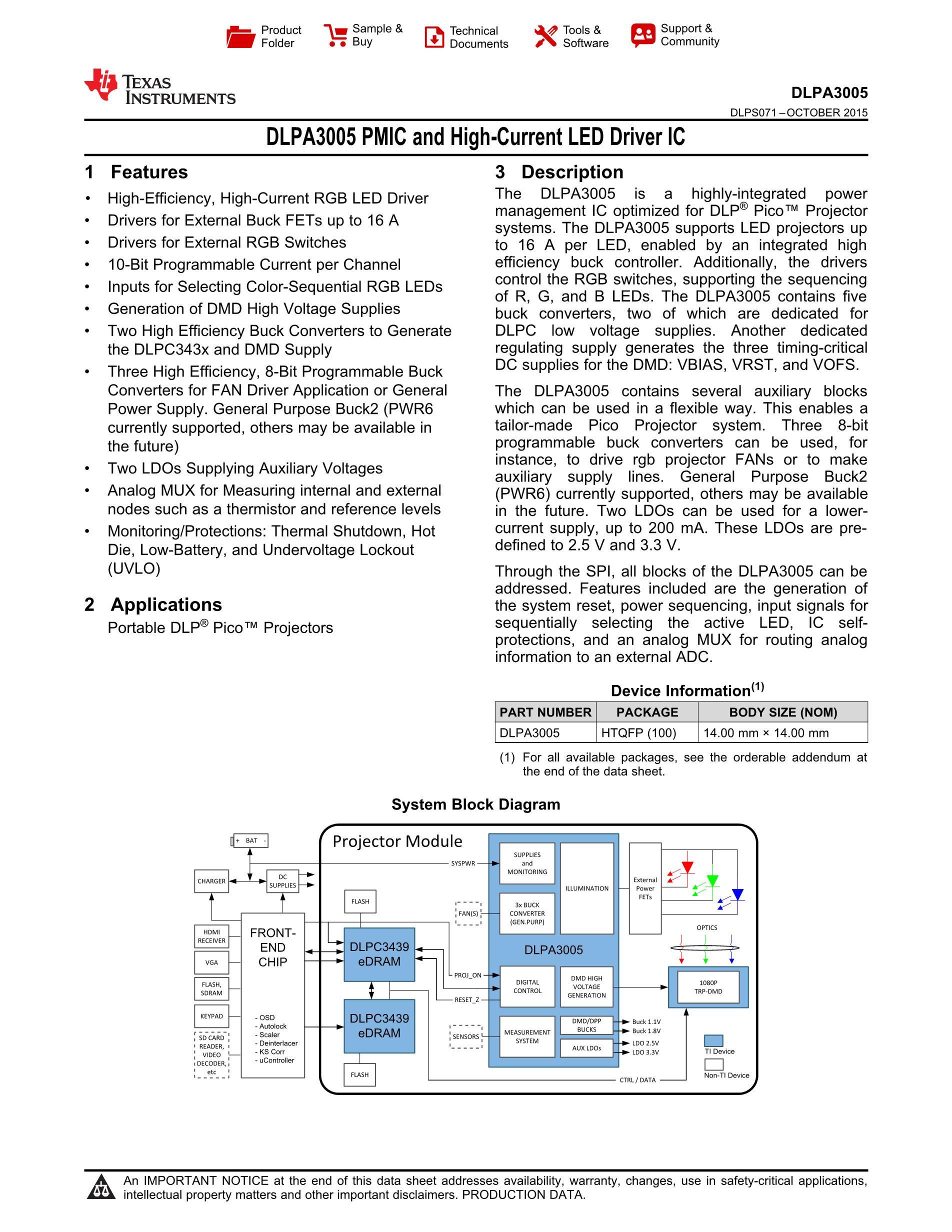 DLPA3005CPFDR's pdf picture 1