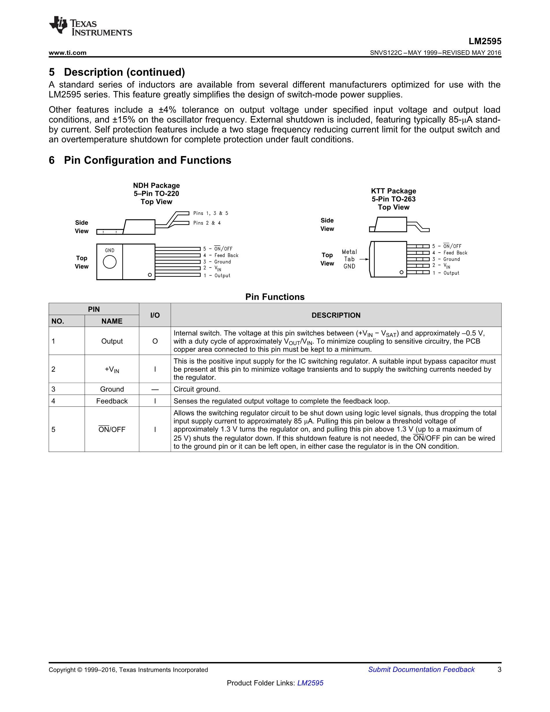 LM2595SX-5.0/NOPB's pdf picture 3