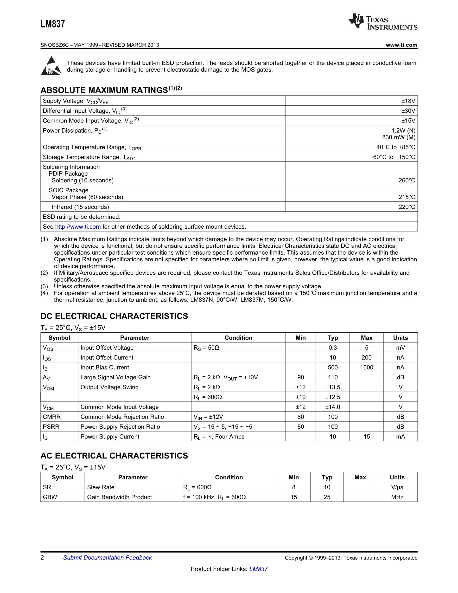LM837N/NOPB's pdf picture 2