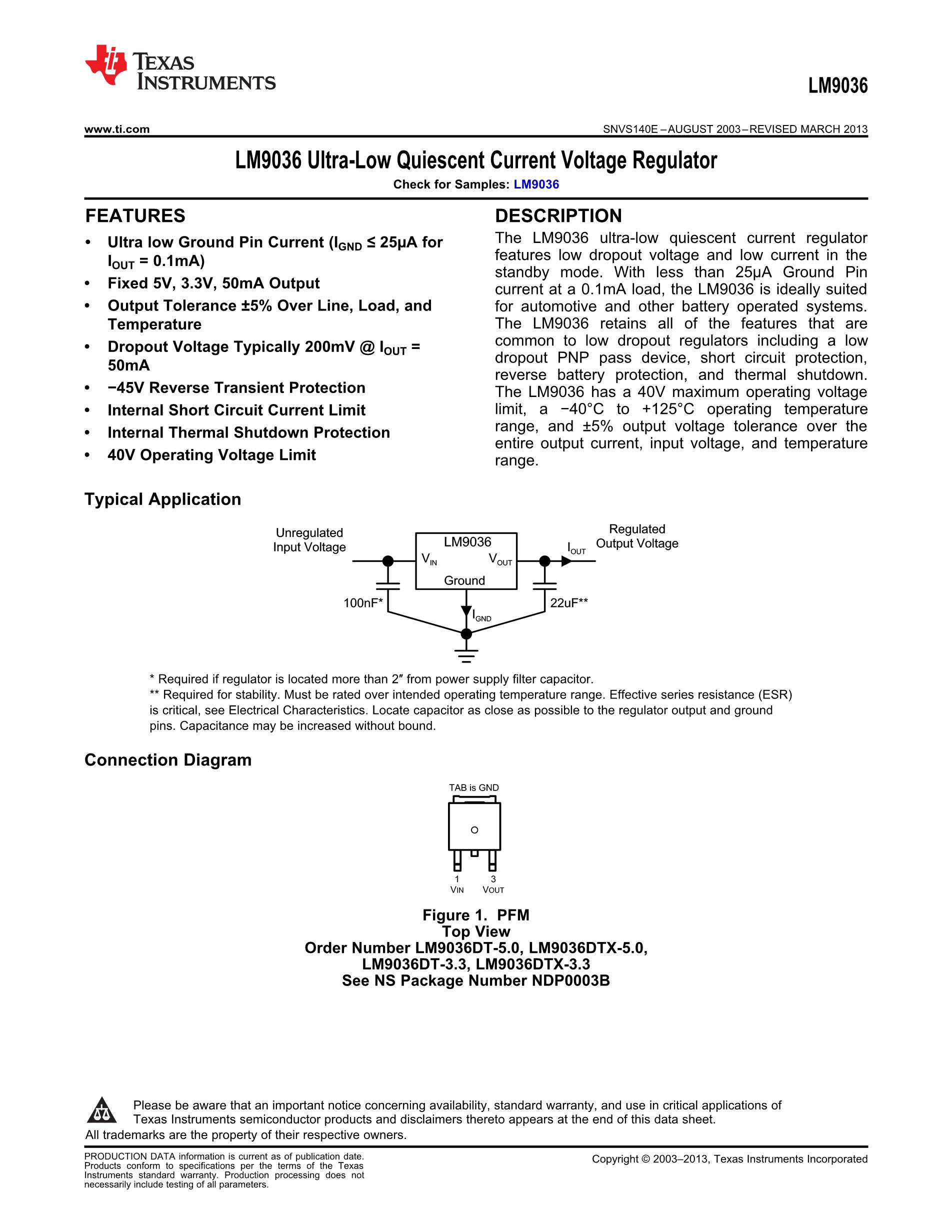 LM9076BMAX-5.0/NOPB's pdf picture 1