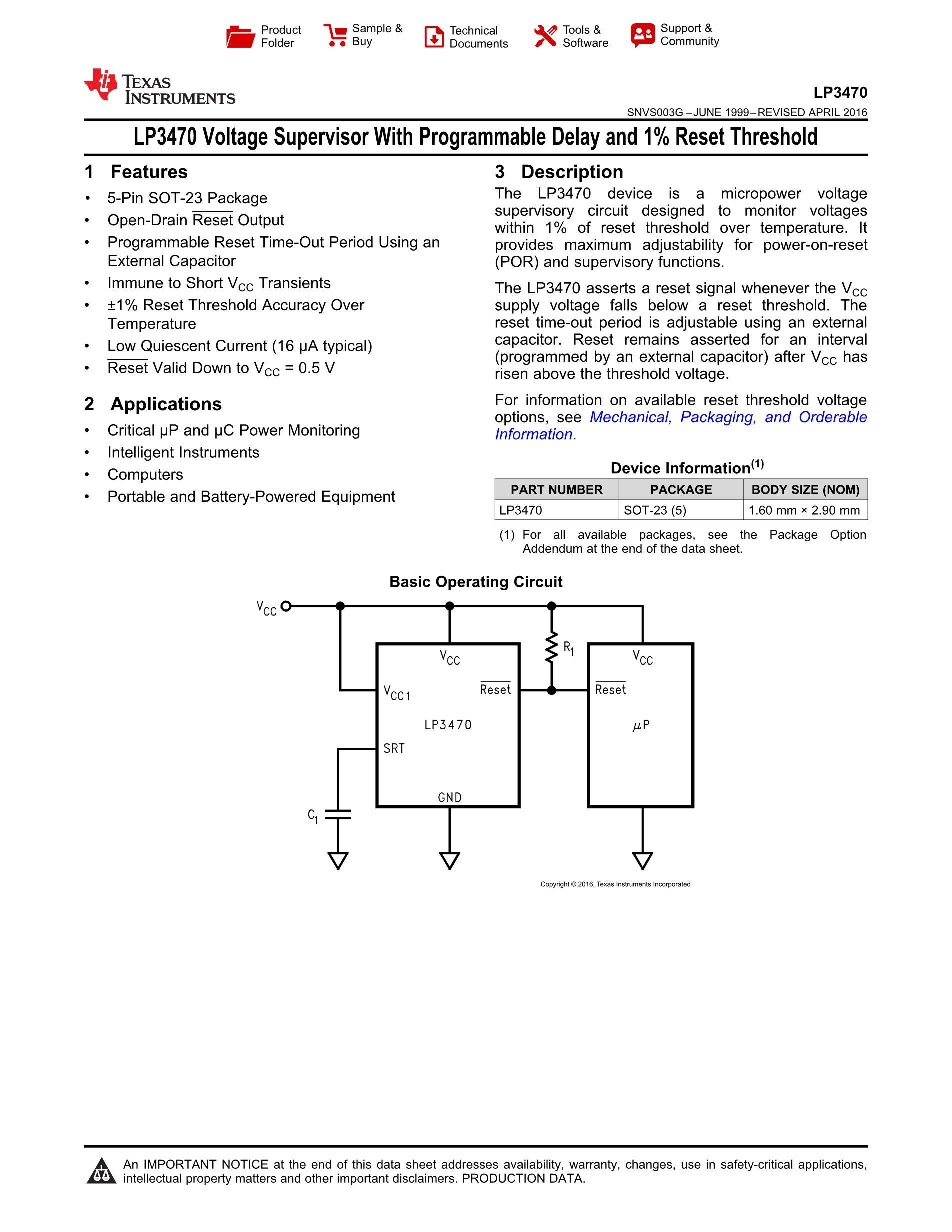 LP3470IM5X-2.63/NOPB's pdf picture 1