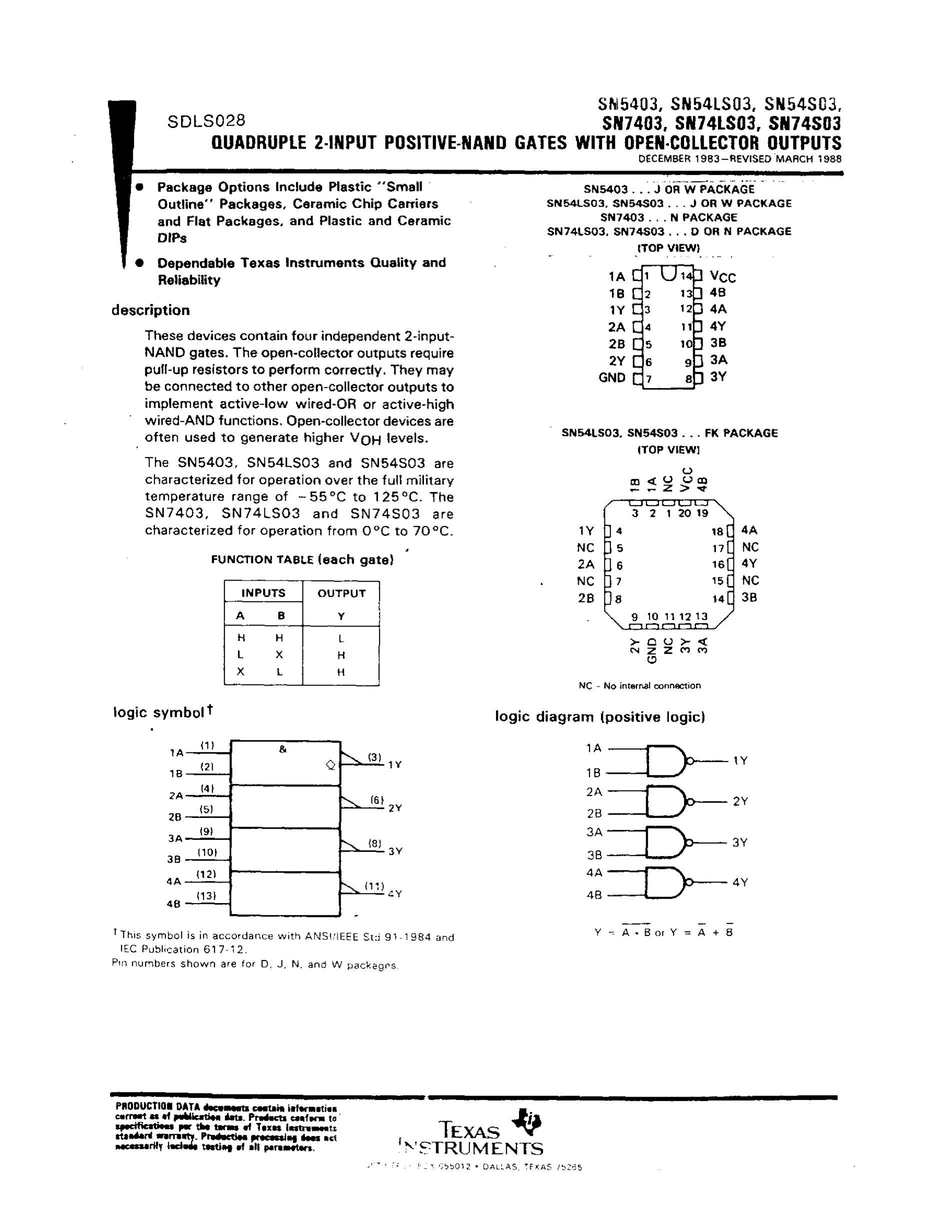 SN74LS03's pdf picture 1