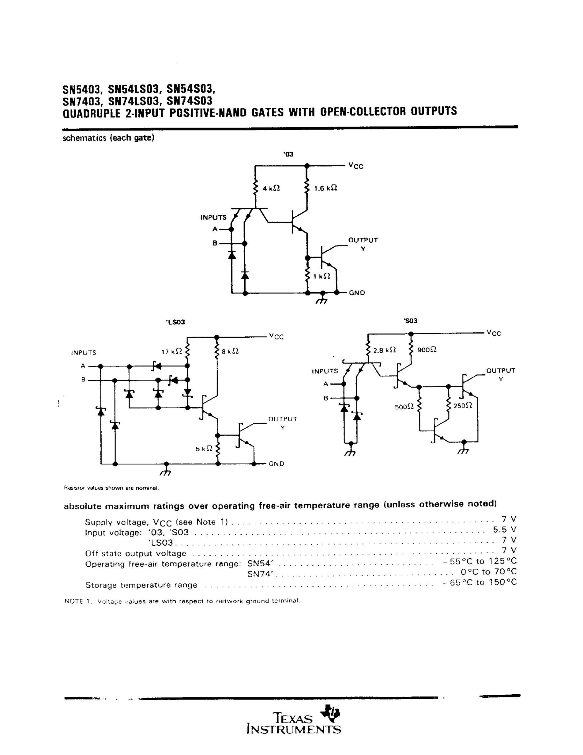 SN74LS03's pdf picture 2