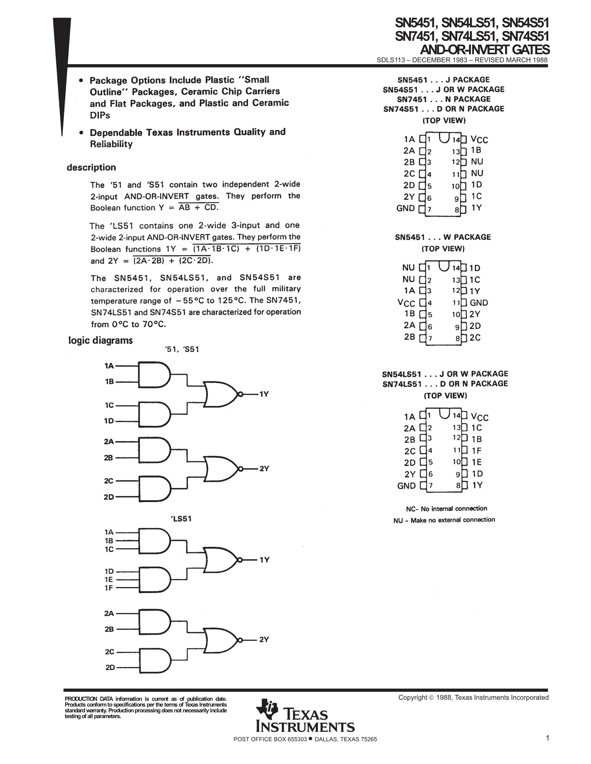 SN74S51DR's pdf picture 1