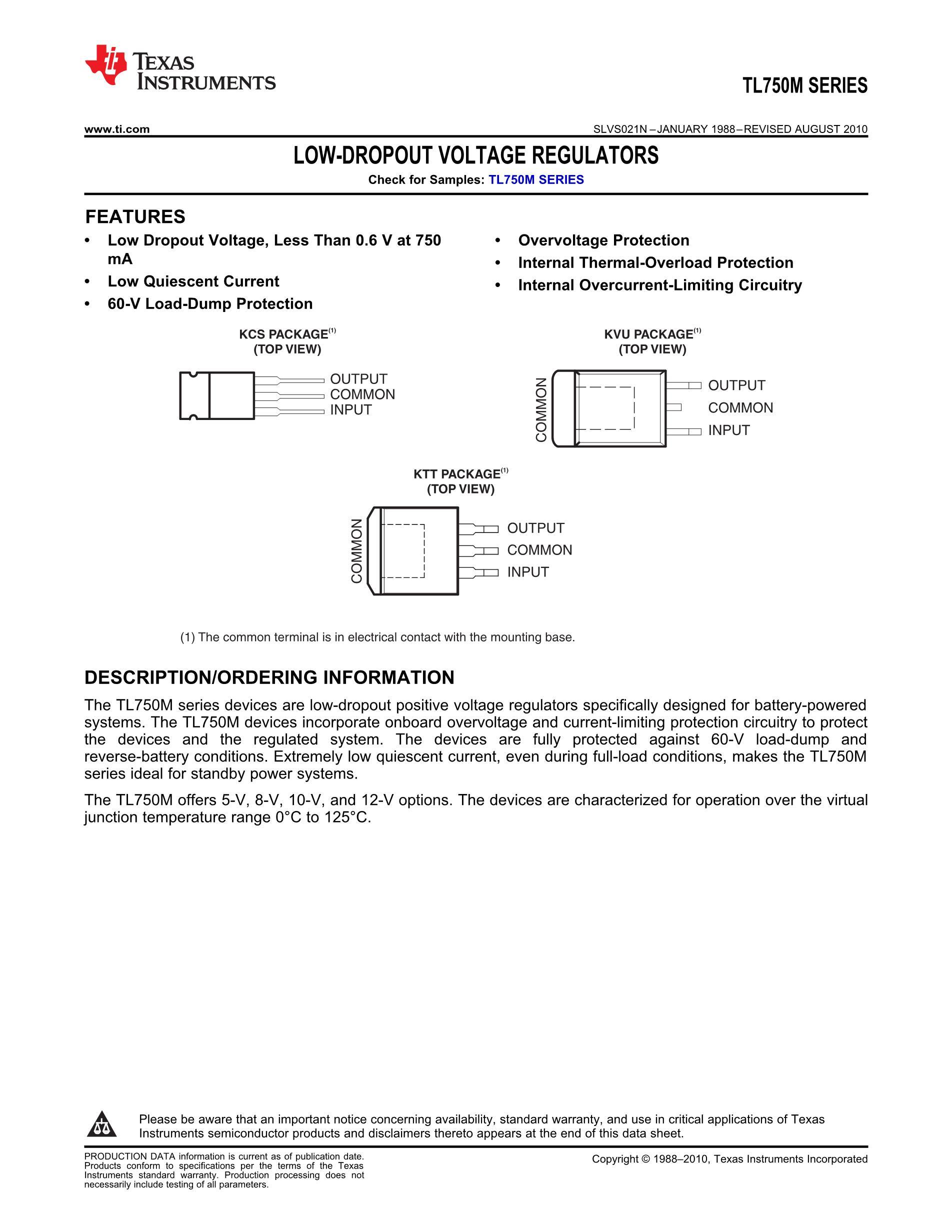 TL750L10CDRE4's pdf picture 1
