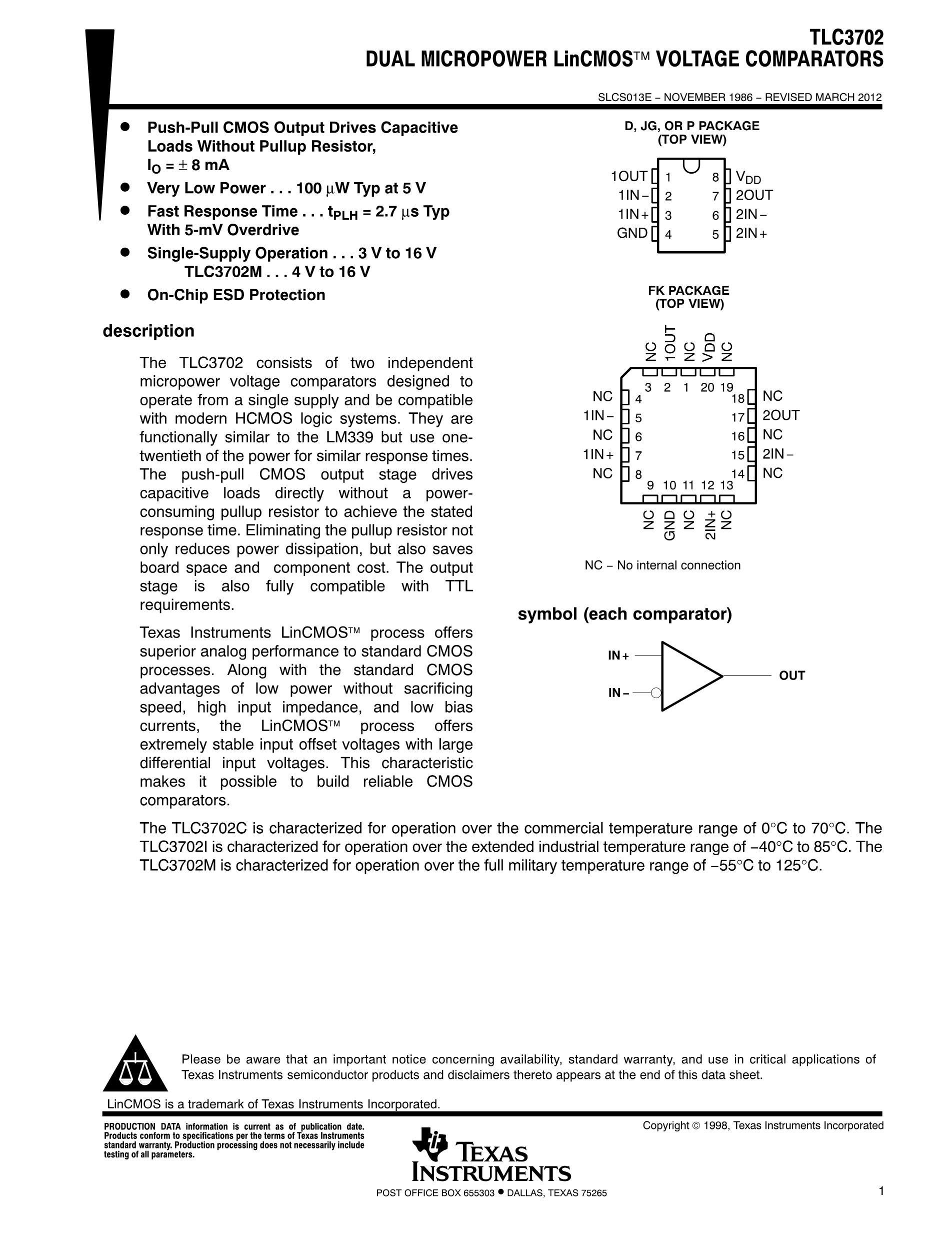 TLC3702ID's pdf picture 1