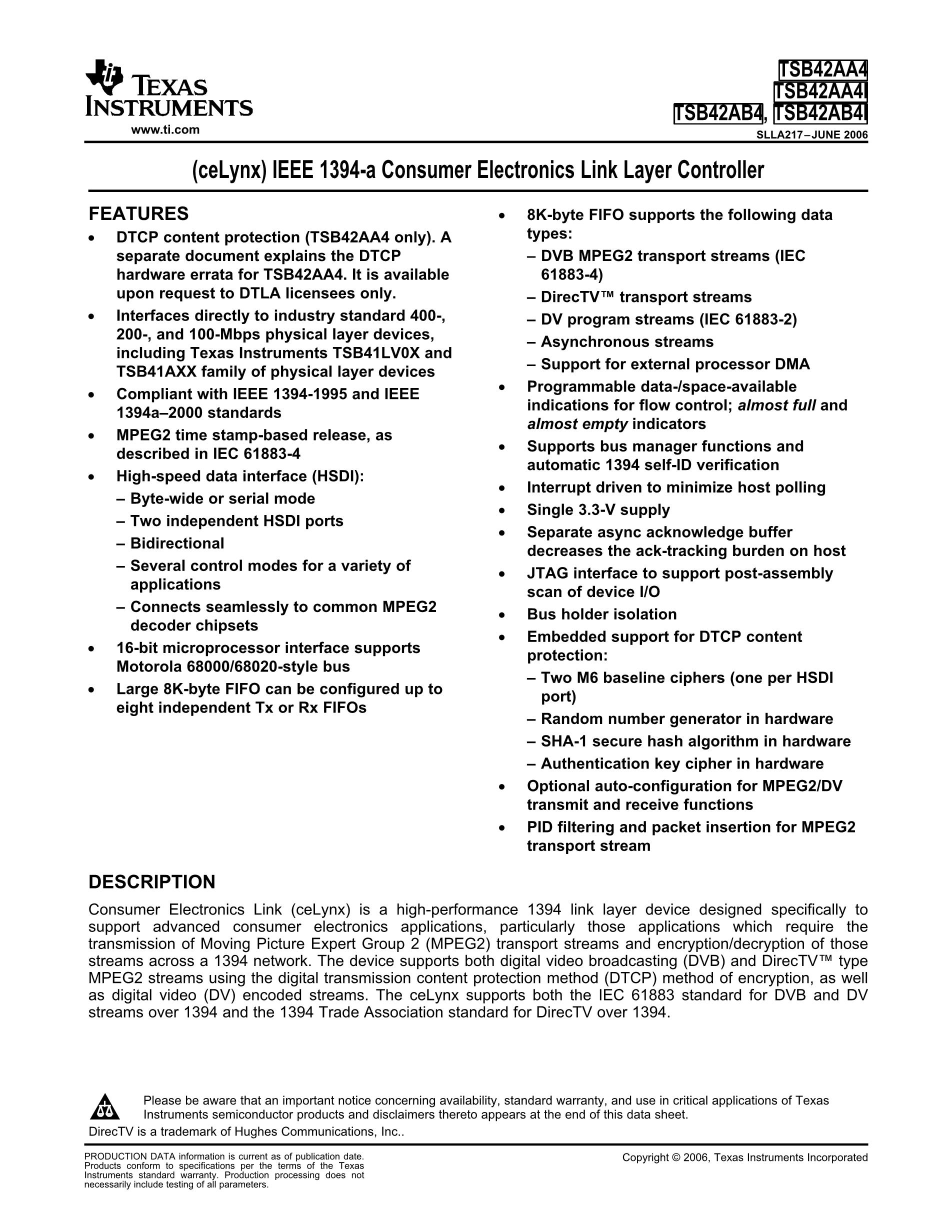 TSB43DB42ZHC's pdf picture 1