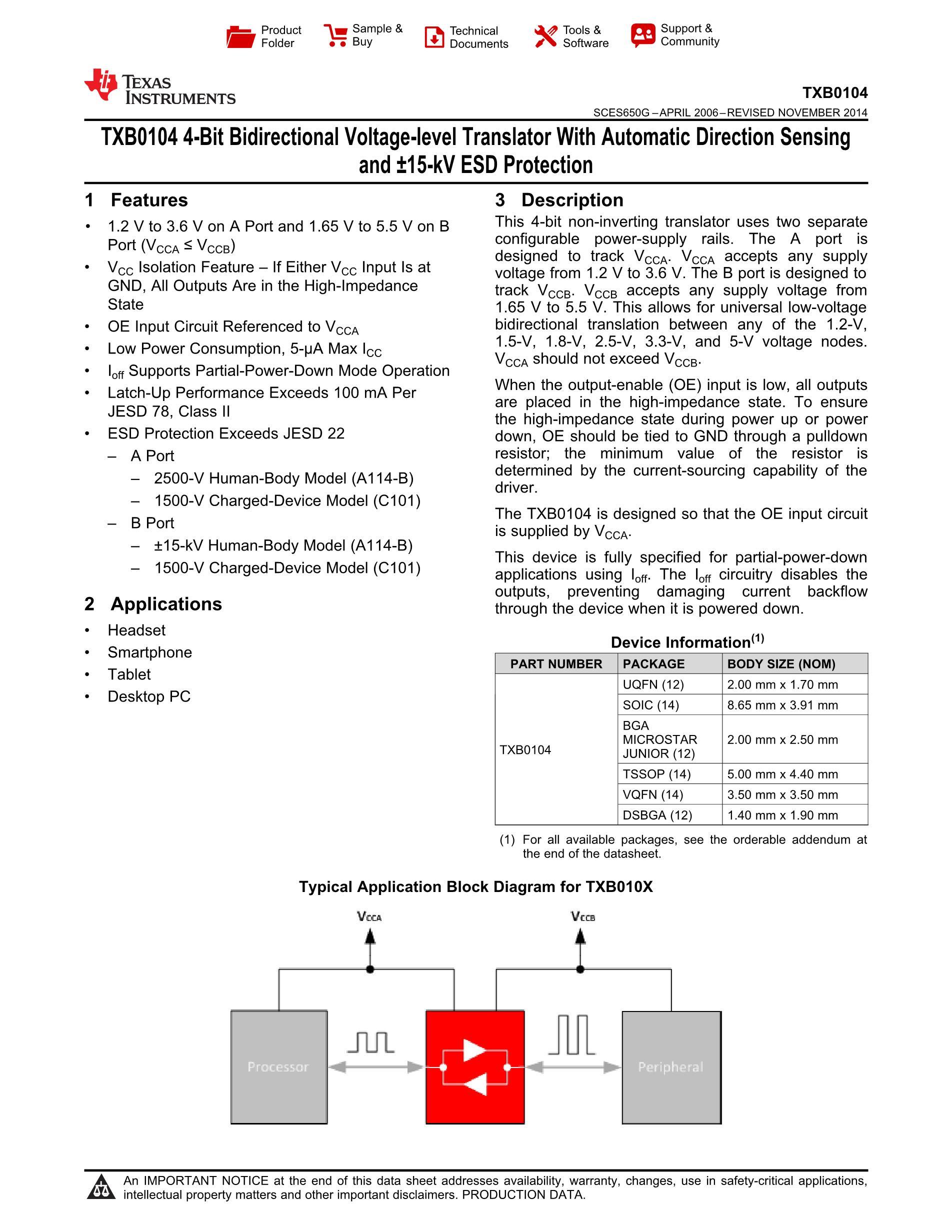 TXB0104D's pdf picture 1