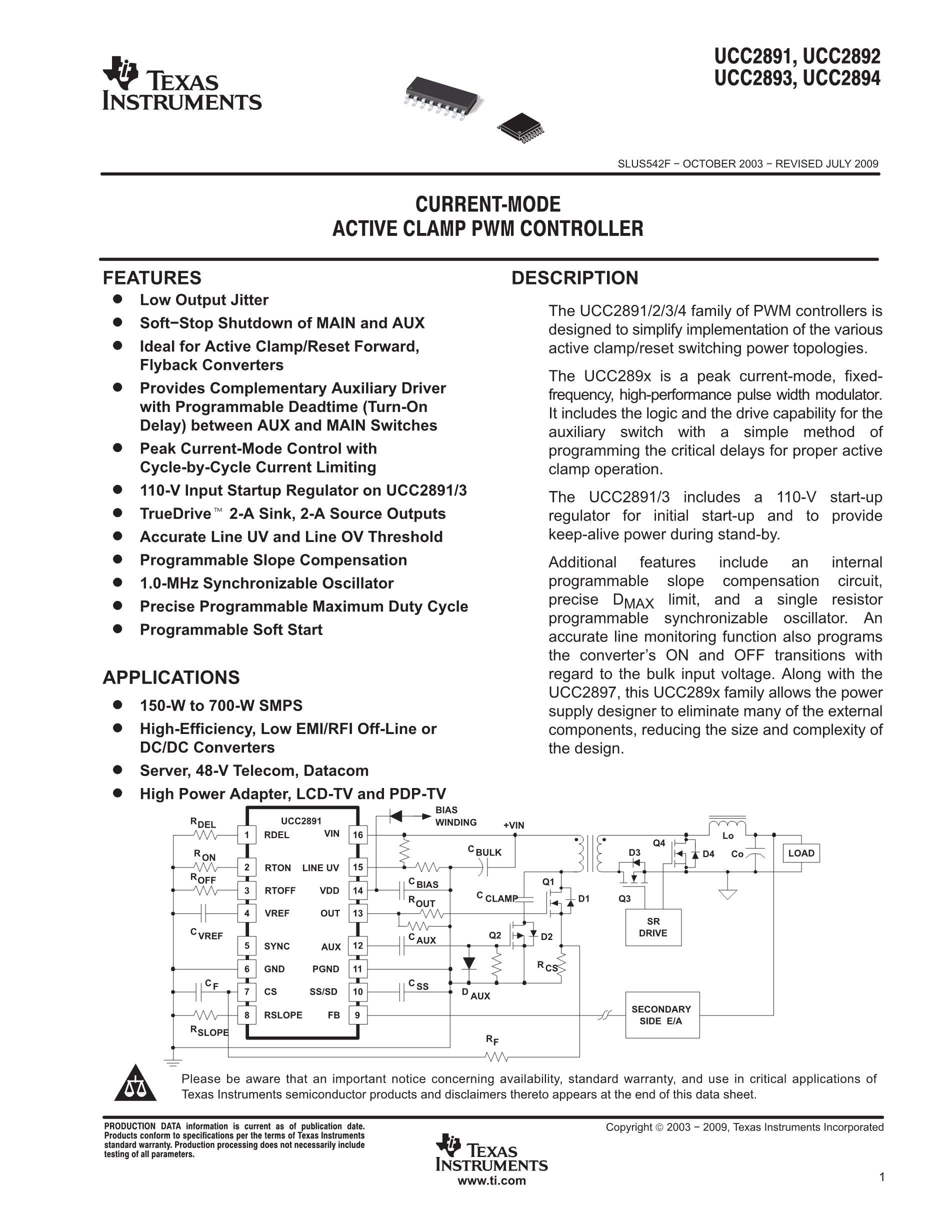 UCC2893PW's pdf picture 1