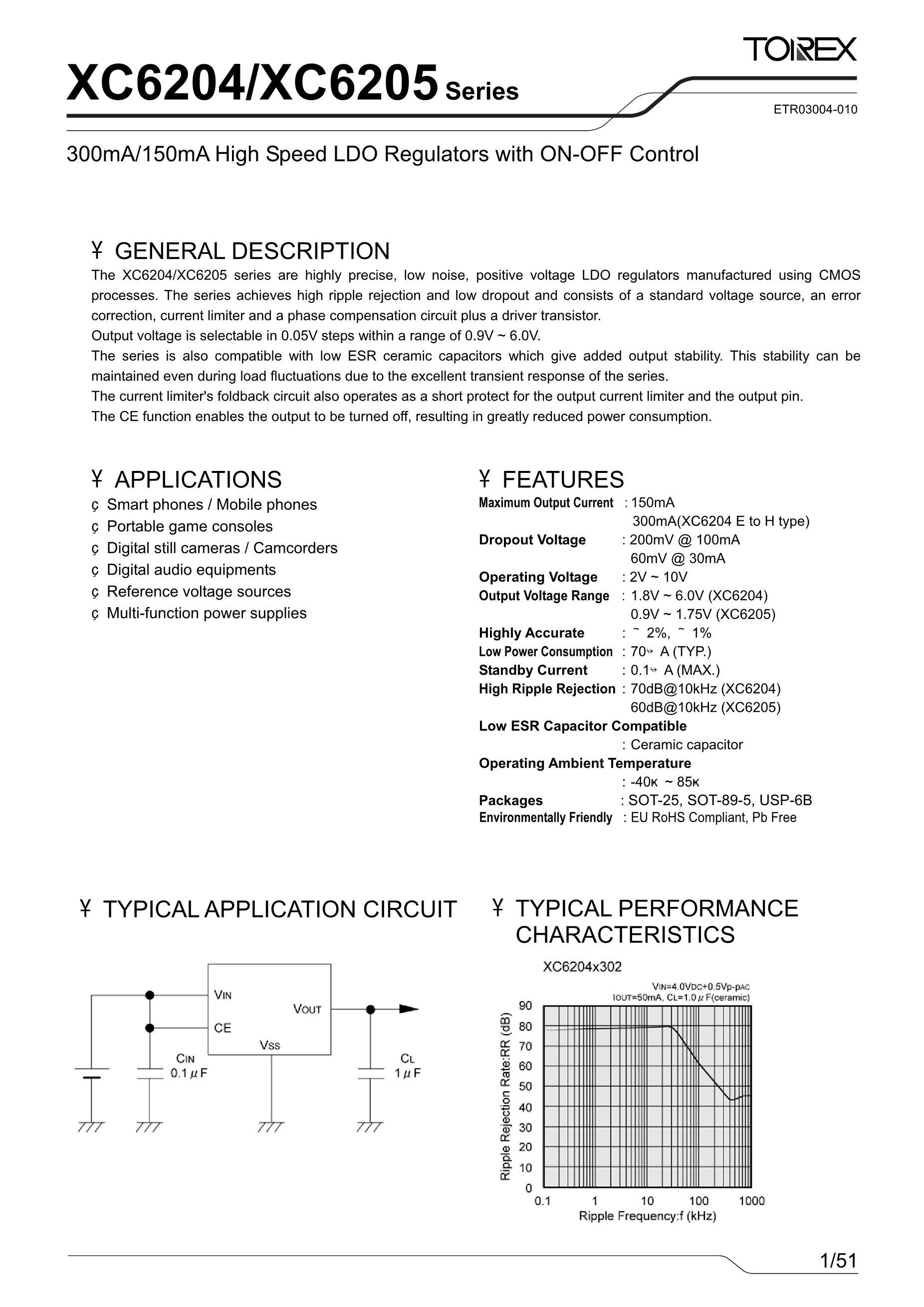 XC6215B2827R-G's pdf picture 1
