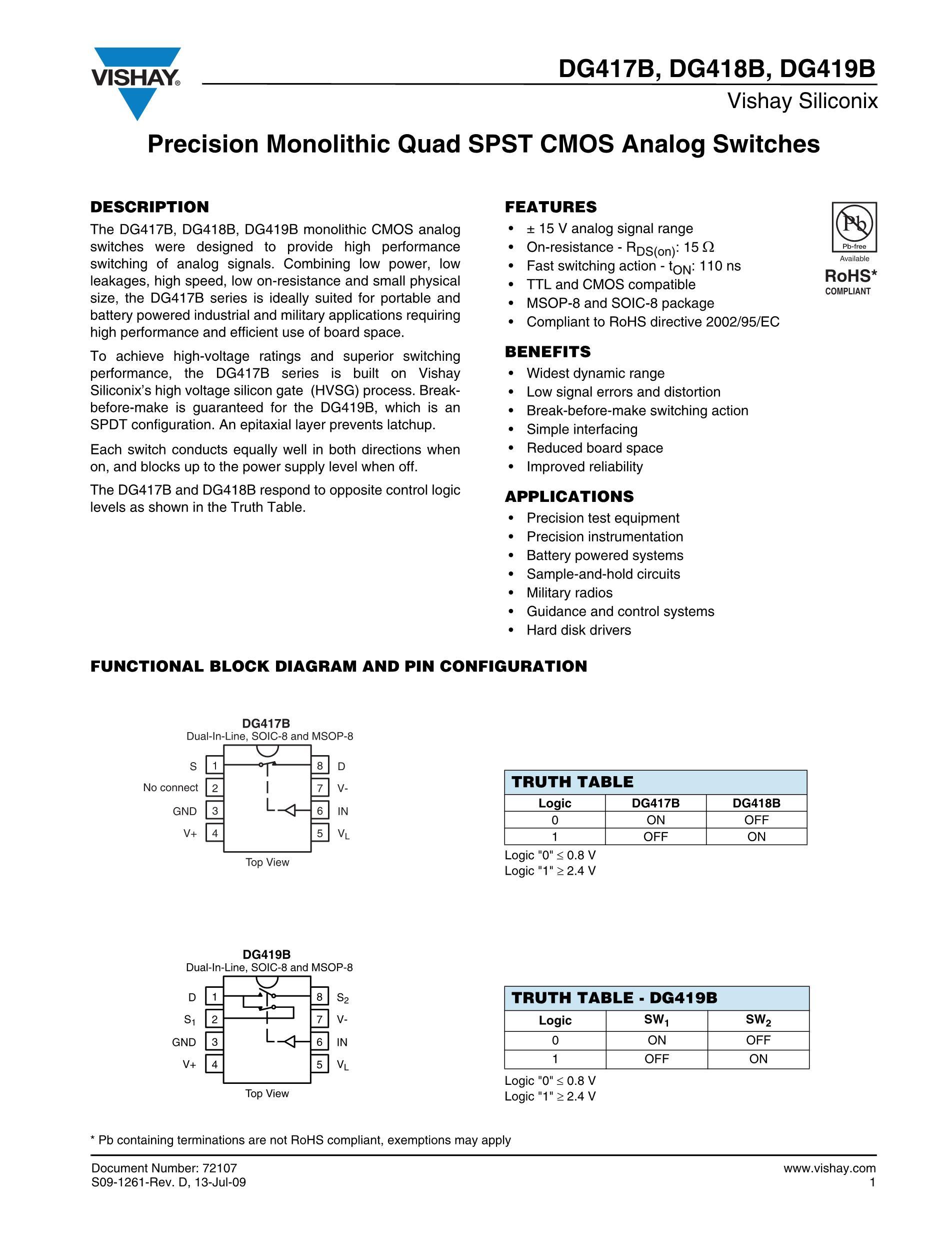 DG411DY-T1's pdf picture 1
