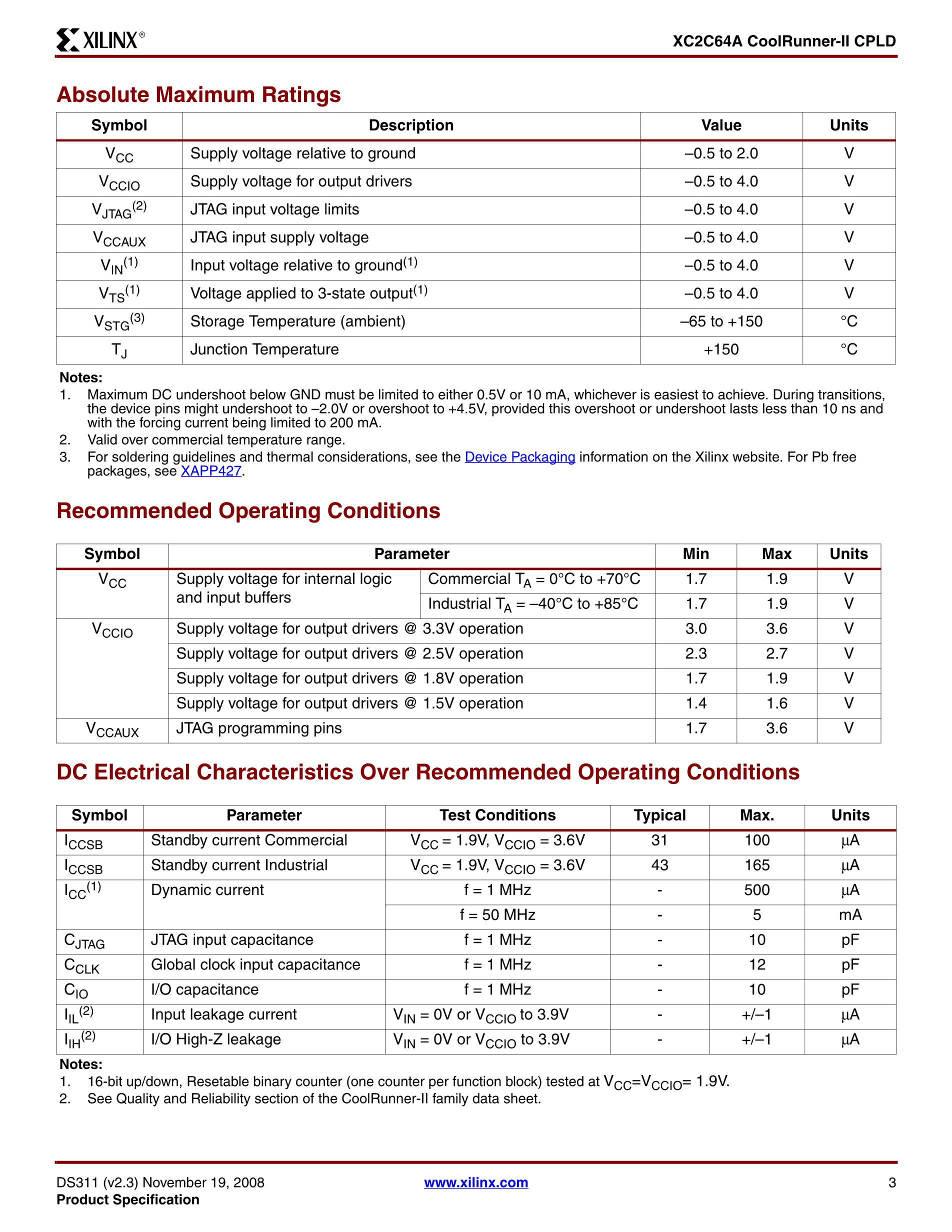 XC2C64A's pdf picture 3