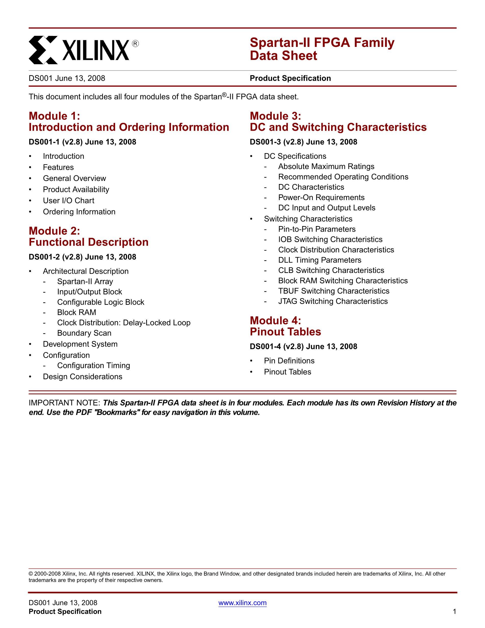 XC2S15-5VQ100C's pdf picture 1