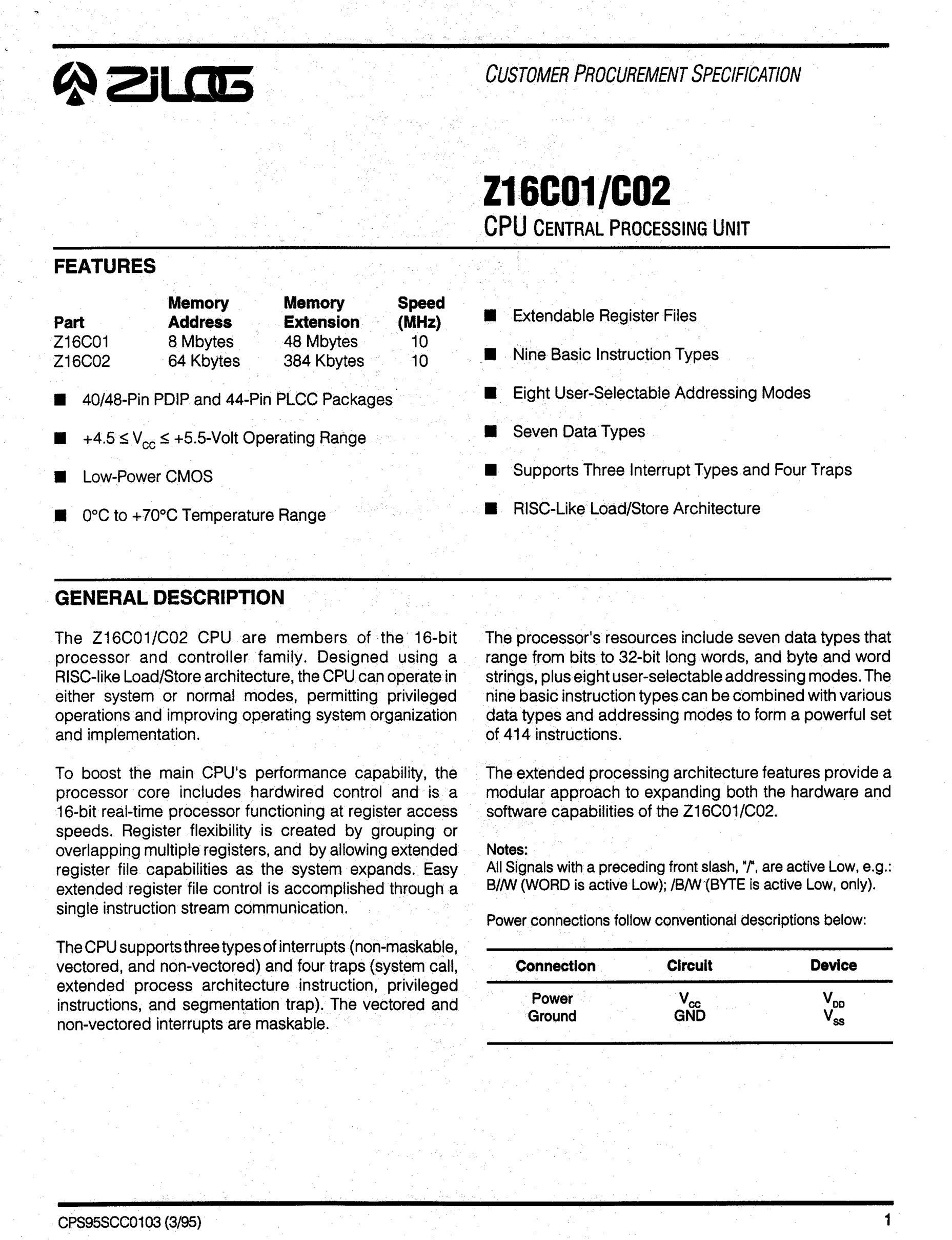 Z16C3010VSC's pdf picture 1