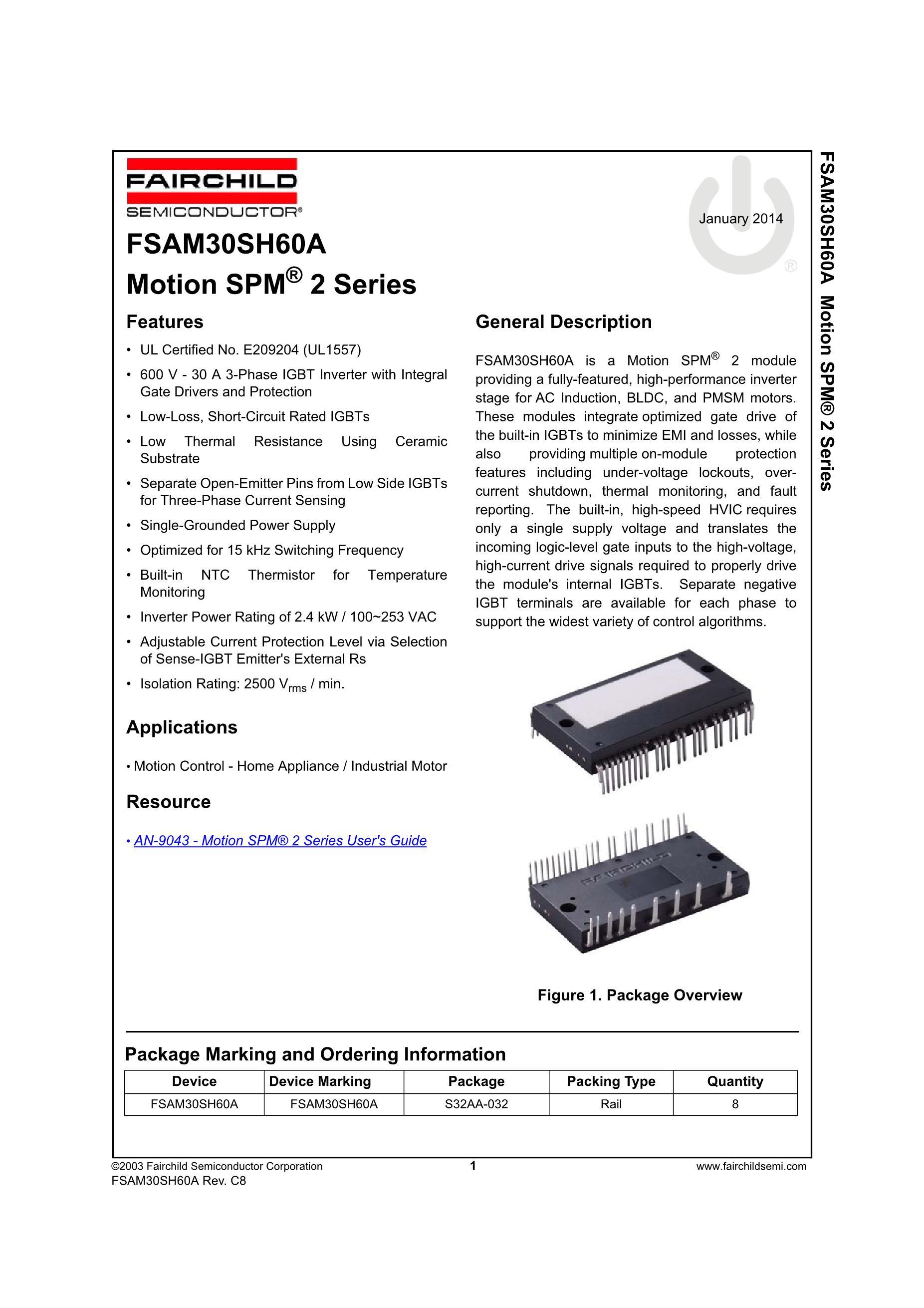 FSAM30SH60A's pdf picture 1