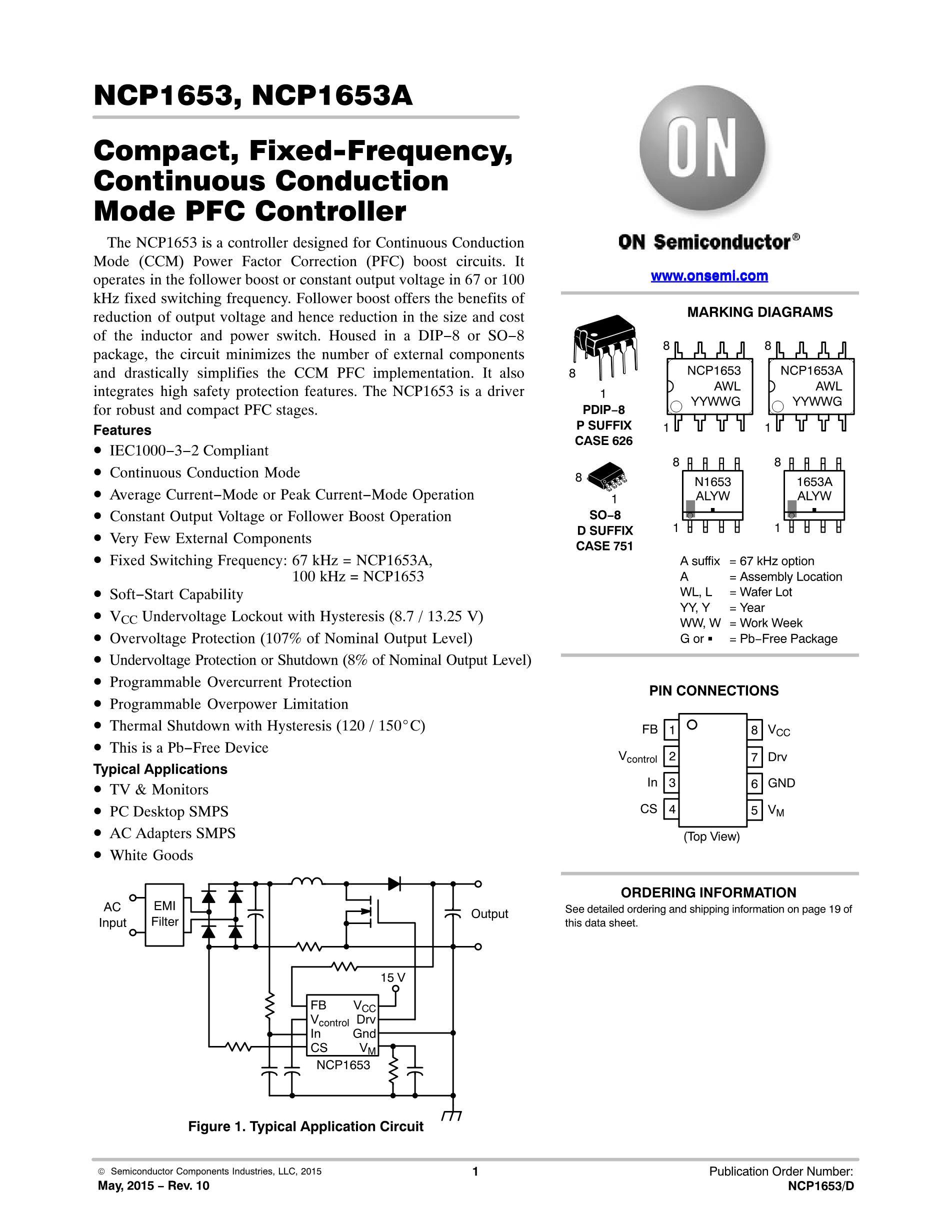 NCP1653ADR's pdf picture 1