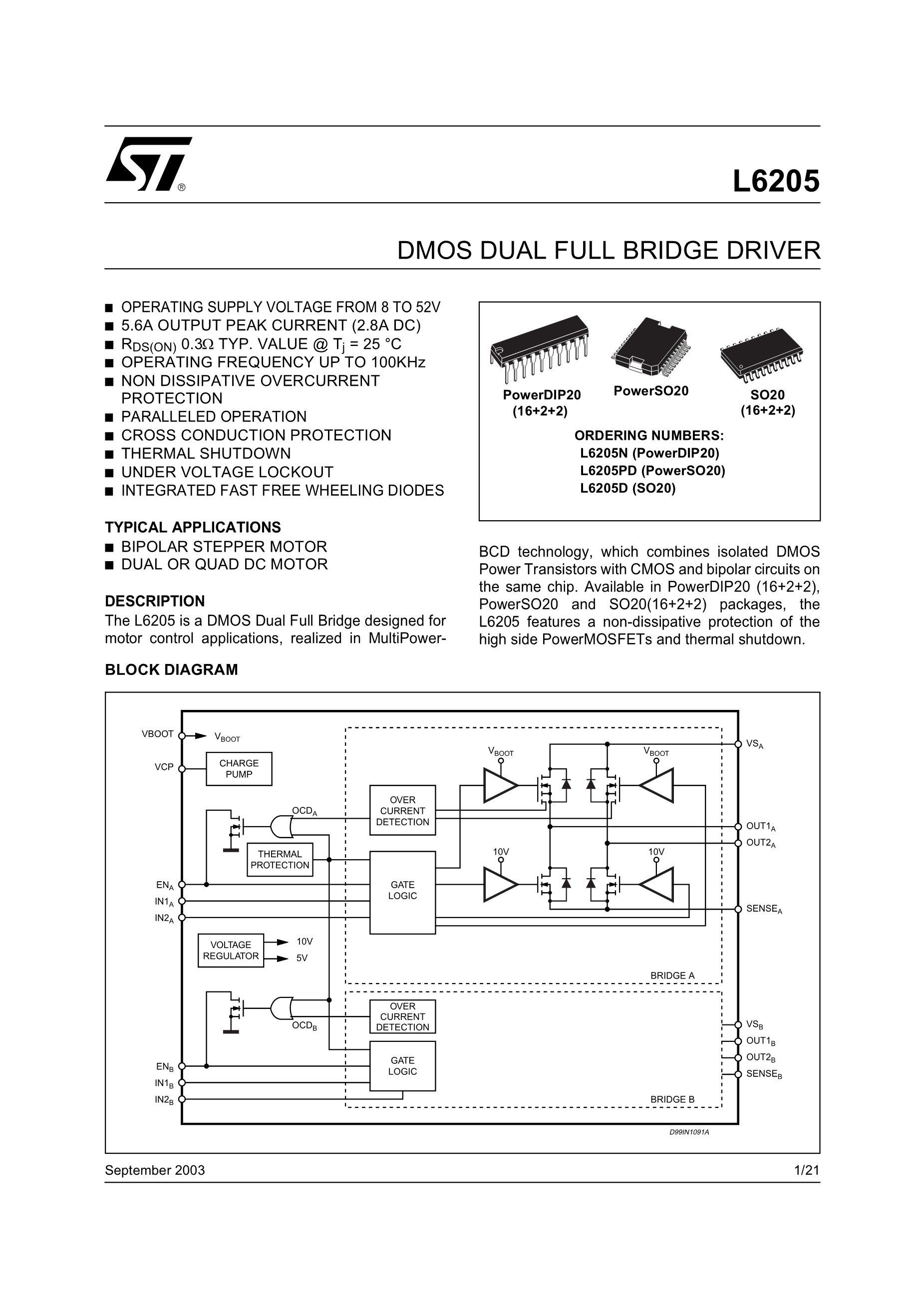 L6205PD's pdf picture 1