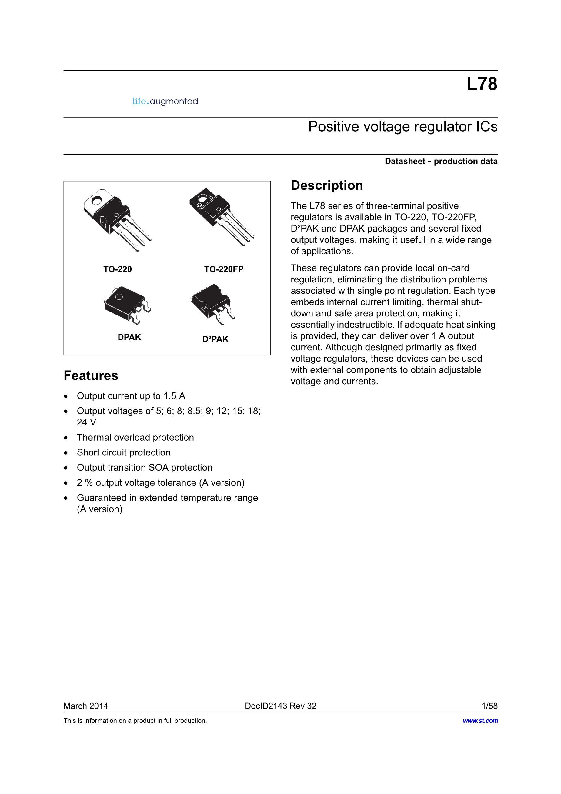 L7815CD2T's pdf picture 1