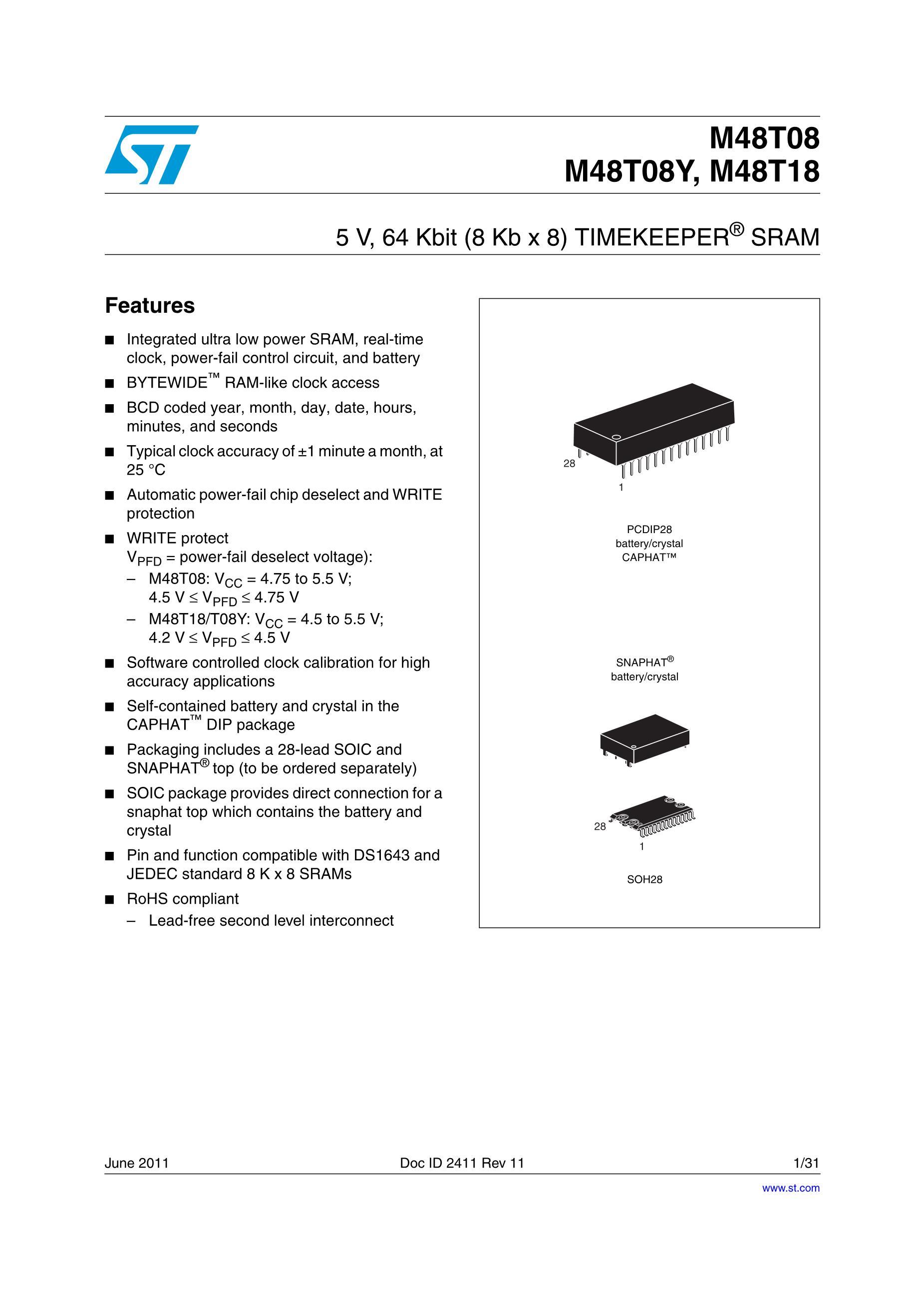 M48T08-150PC1's pdf picture 1
