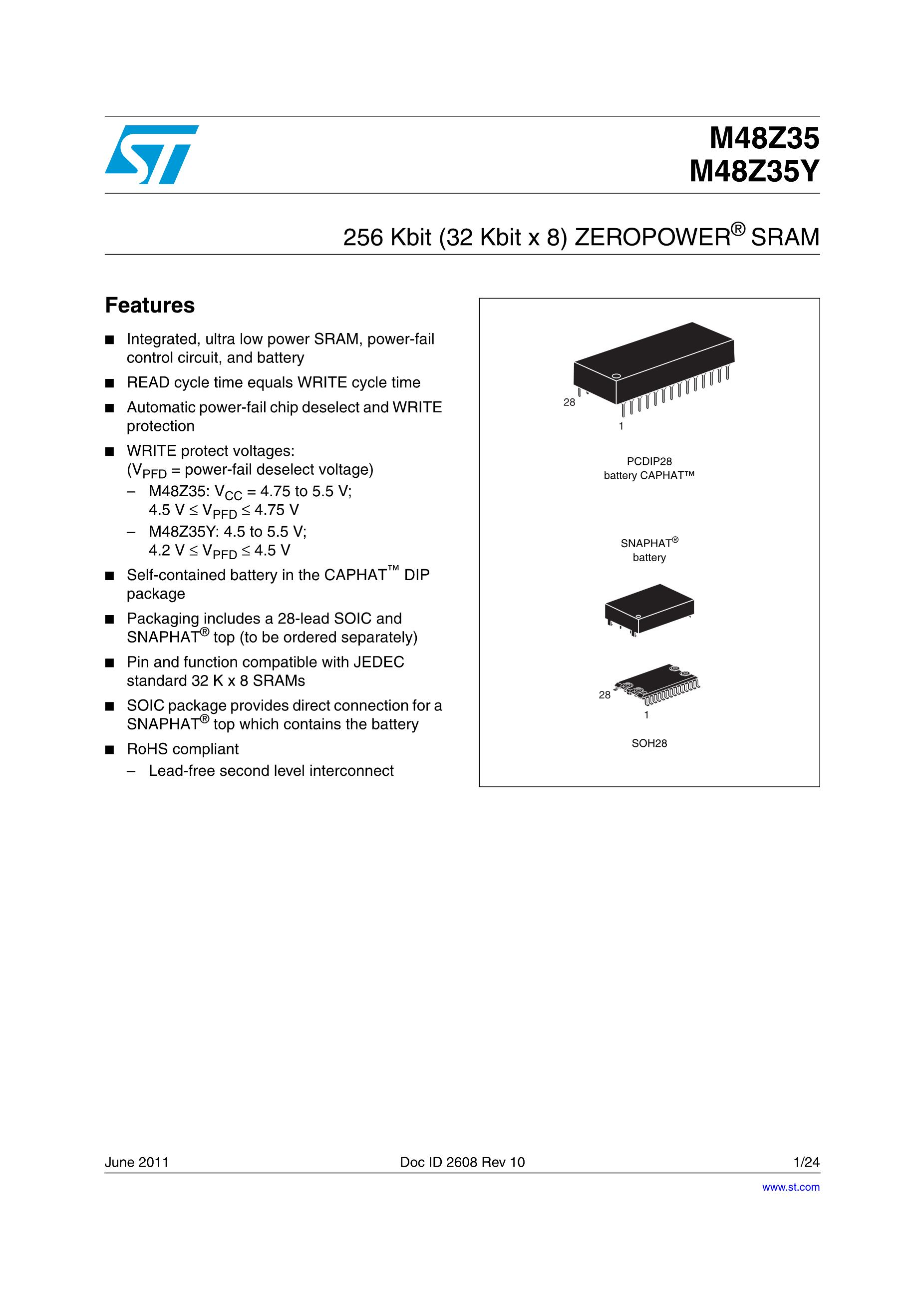 M48Z02-120PC1's pdf picture 1