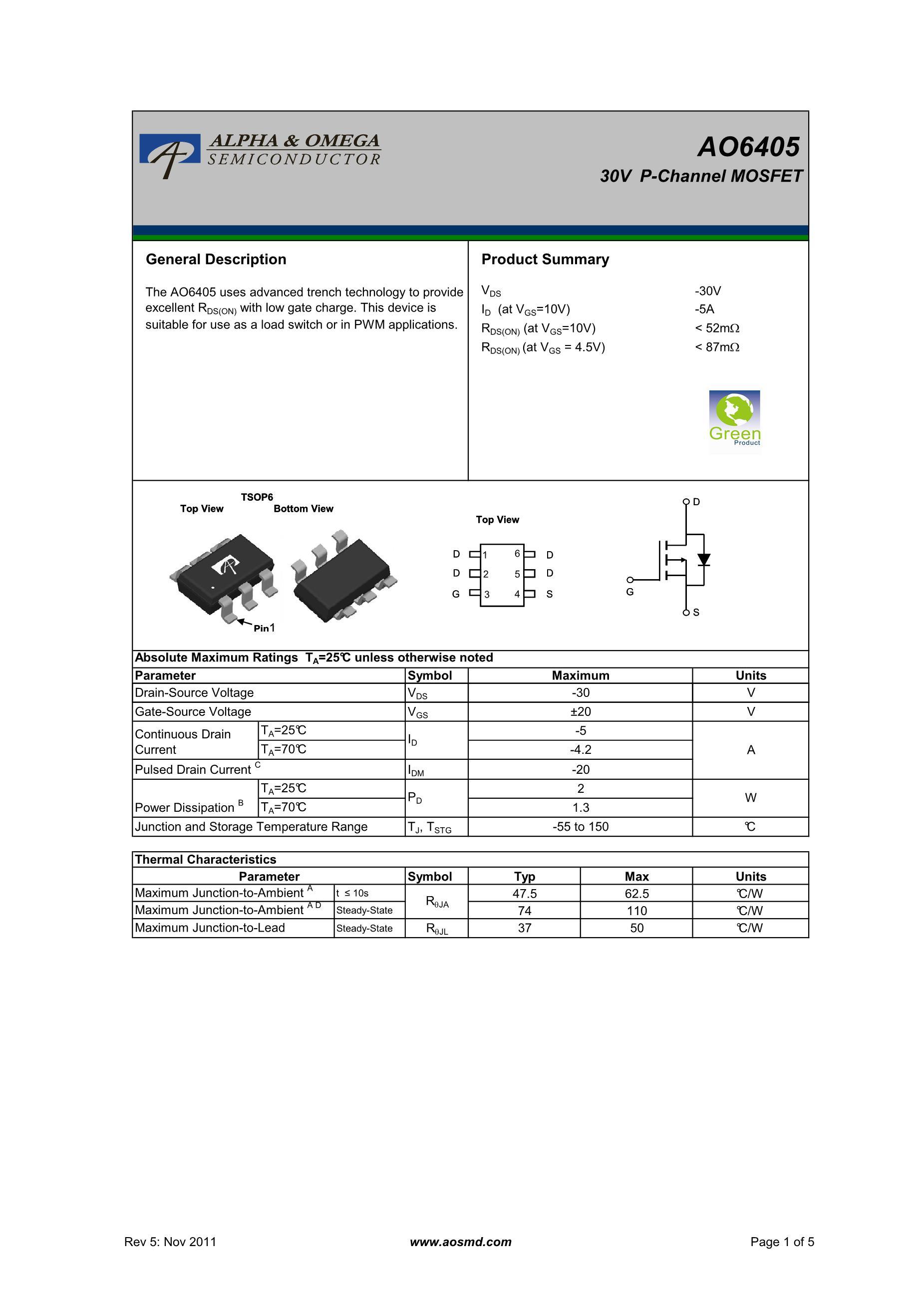 AO6408L's pdf picture 1
