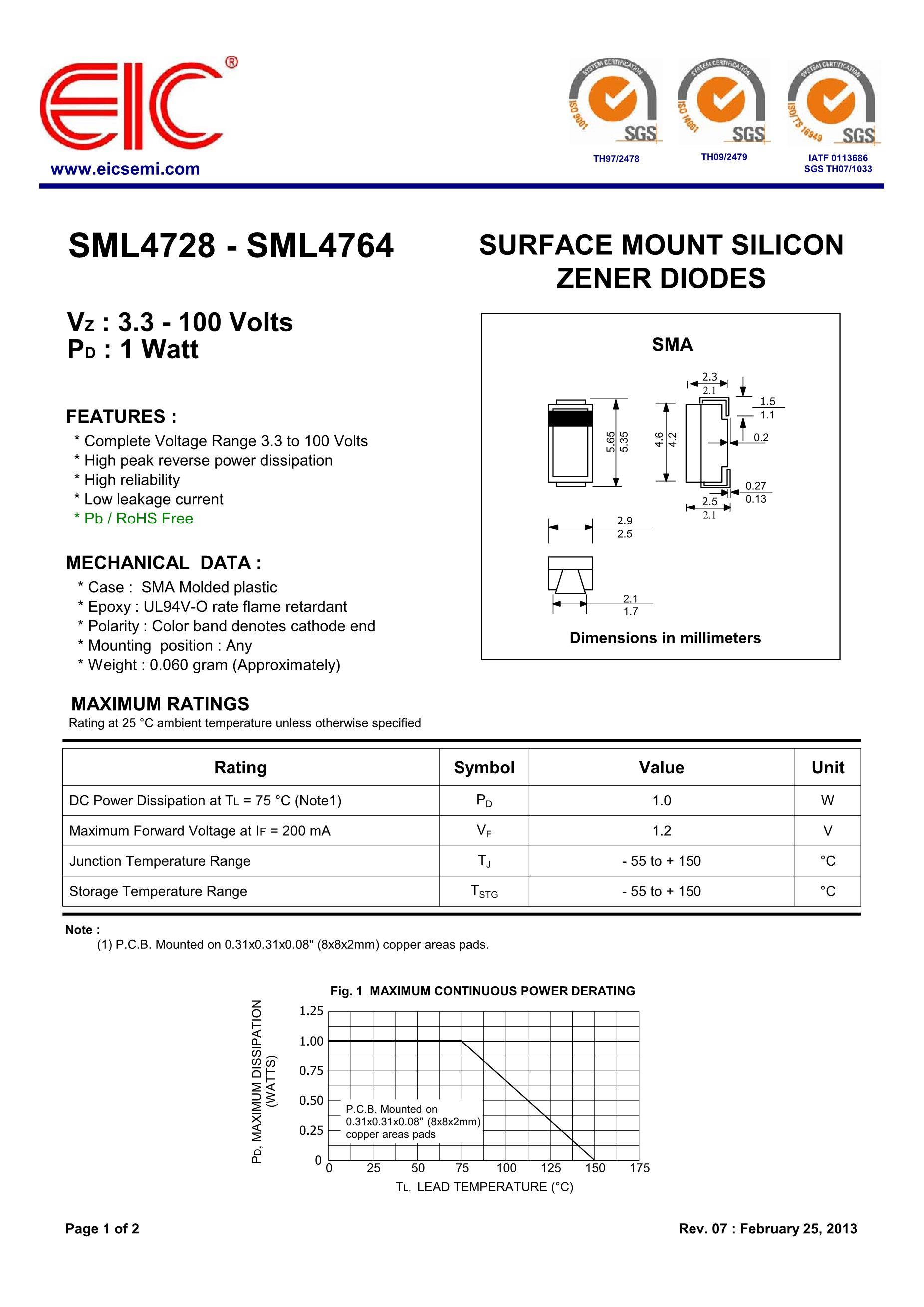 SML4734-E3/61's pdf picture 1