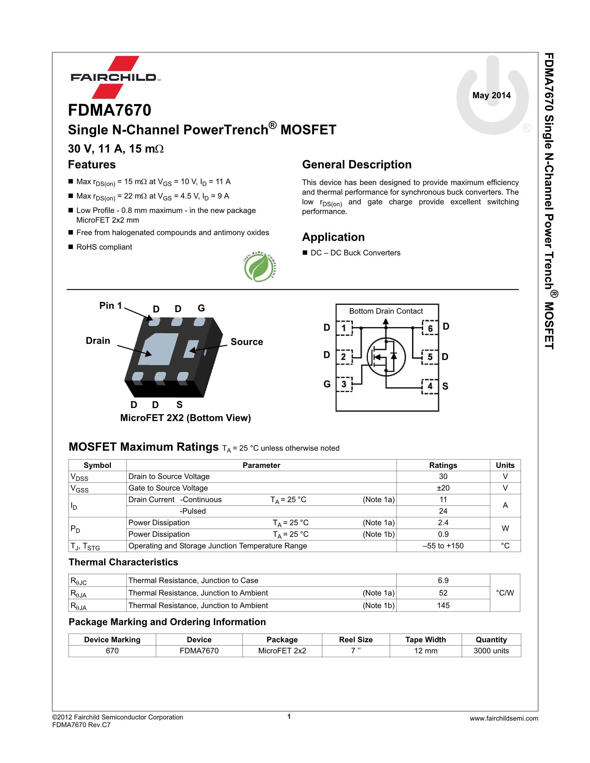 FDMA510PZ's pdf picture 2